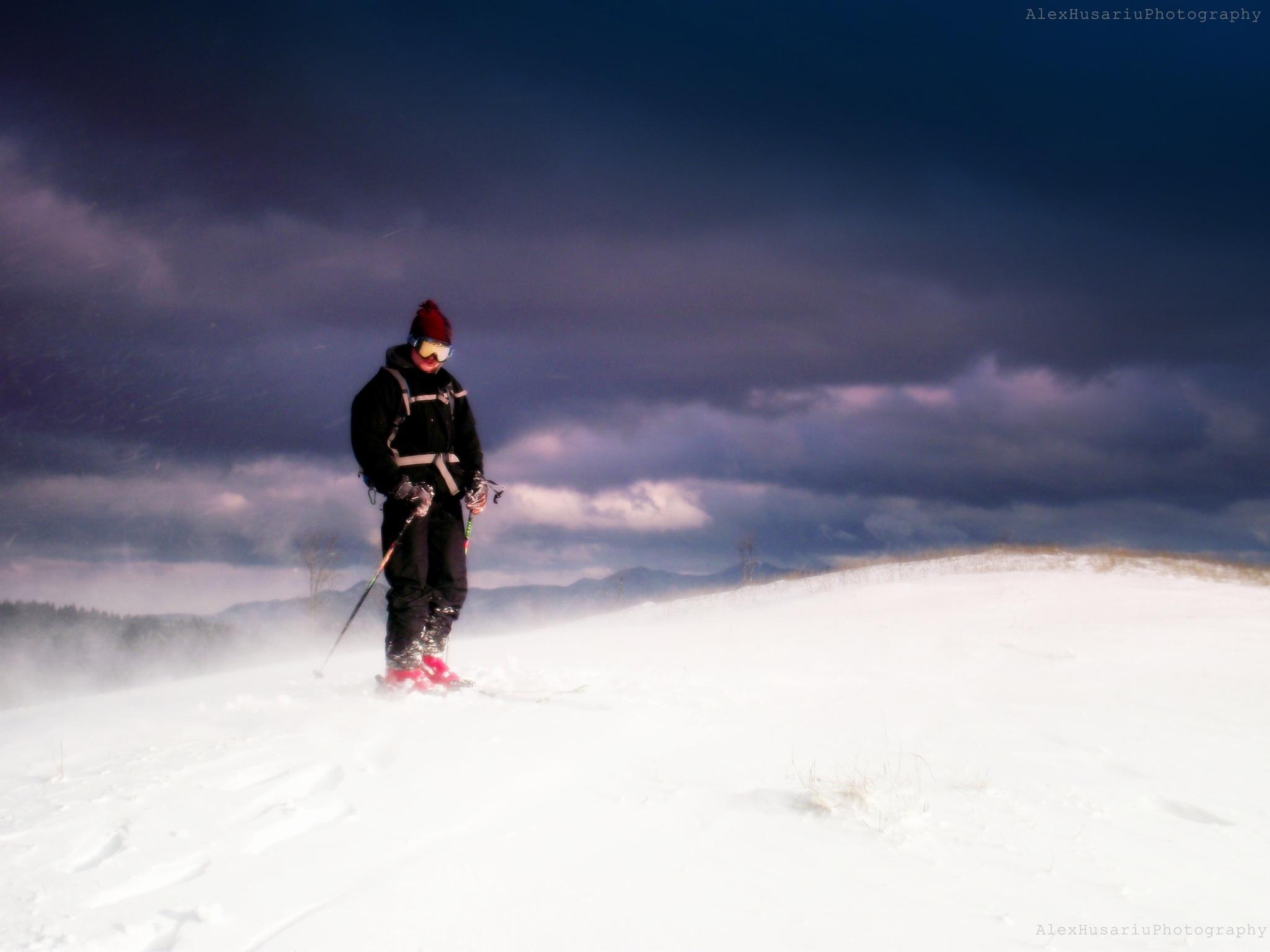 skier by Alex Ionut Husariu