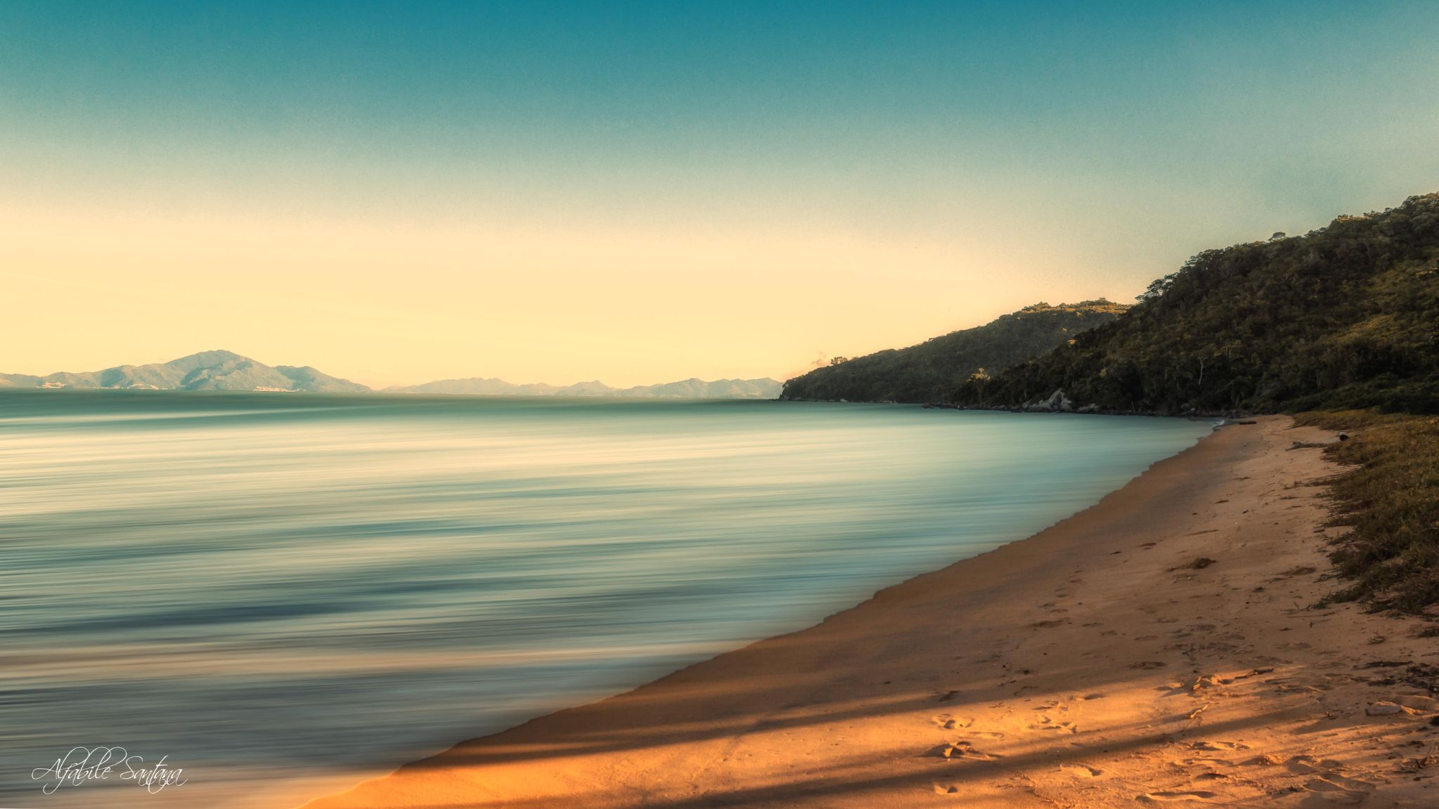 deserted - Cardoso Beach - Bombinhas - Santa Catarina - Brazil by Alfabile