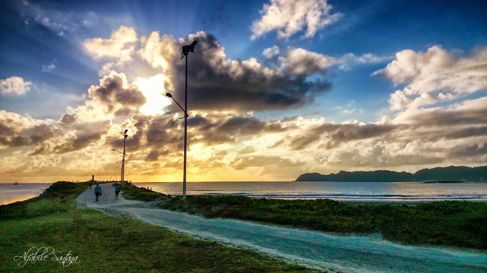 Sunrise in Atalaia Beach by Alfabile