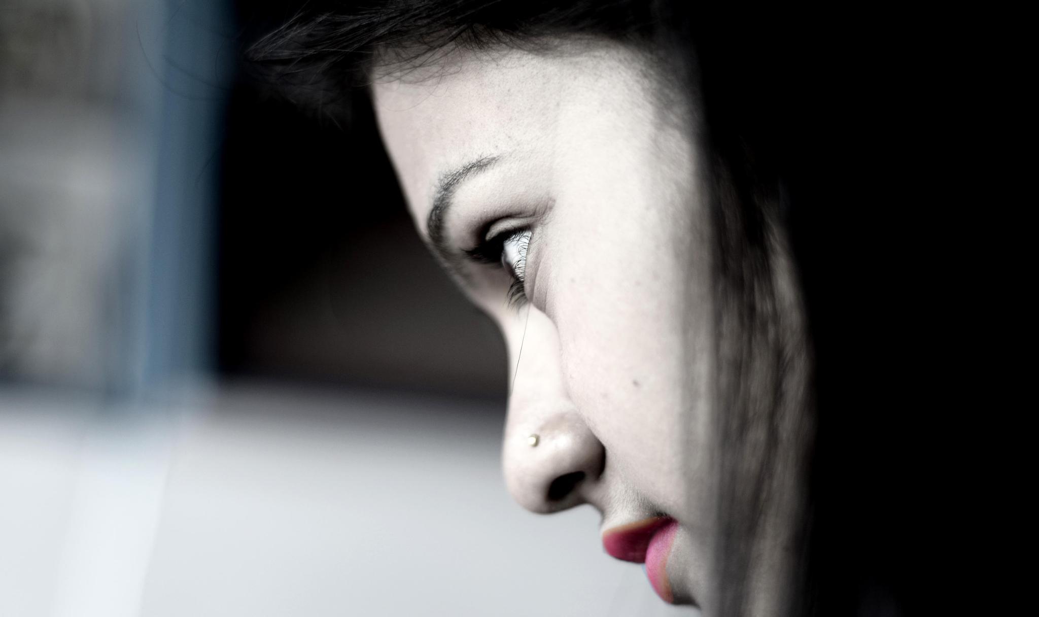 Red lips & Eye by Shekhar Rapacha