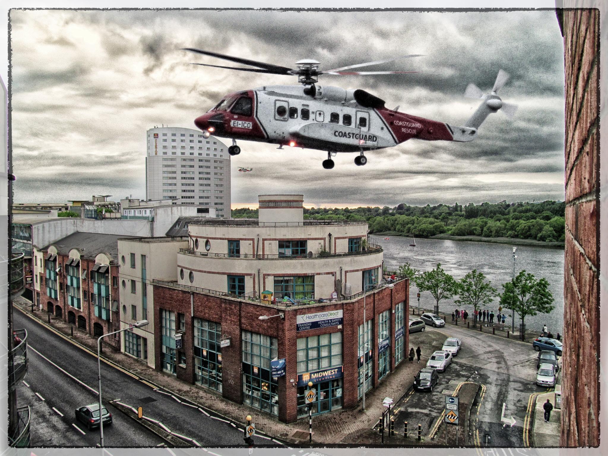 Rescue heli in Limerick by Krzysztof Luszczki
