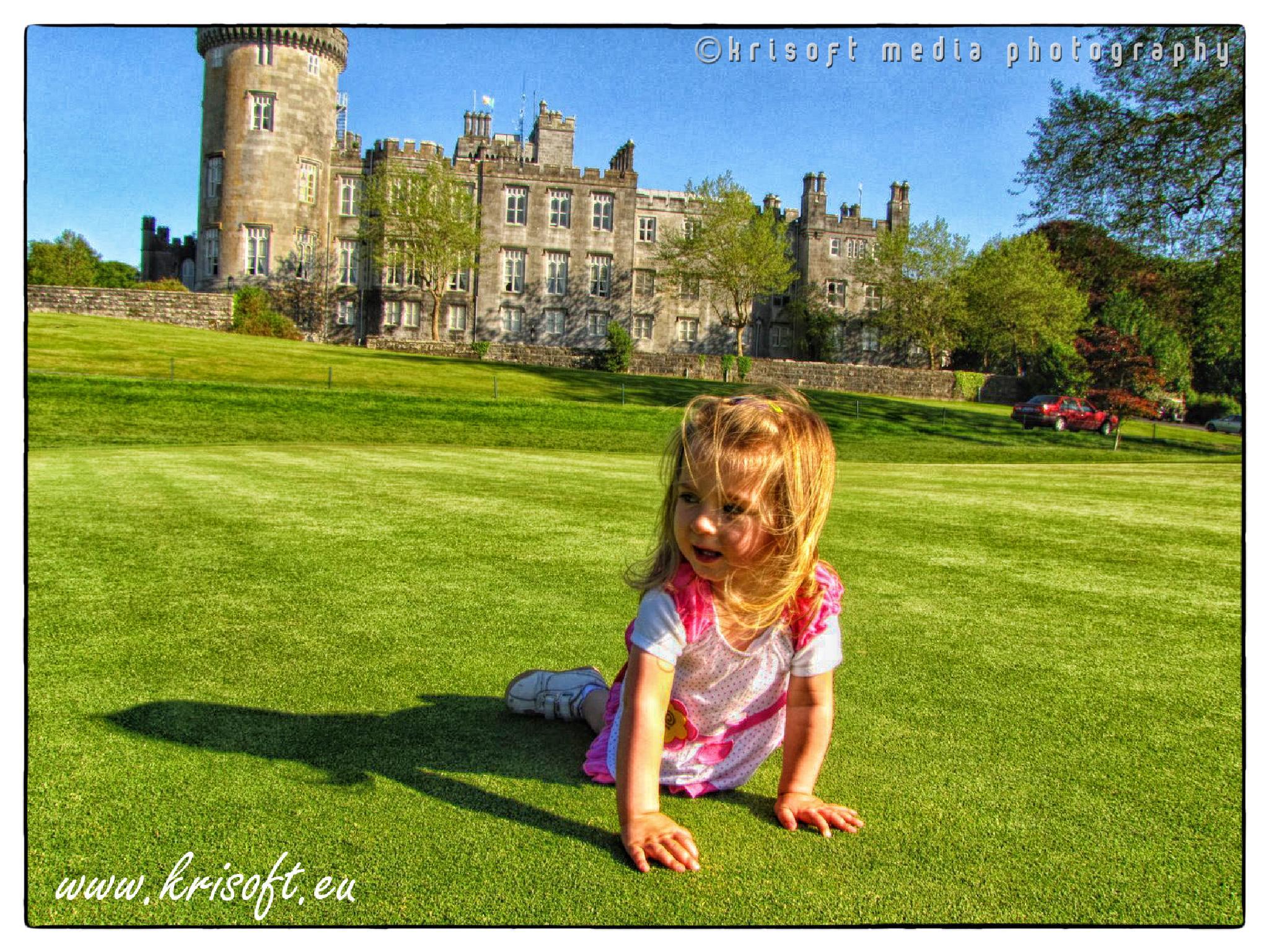 Julia at golf club in Dromoland Castle by Krzysztof Luszczki