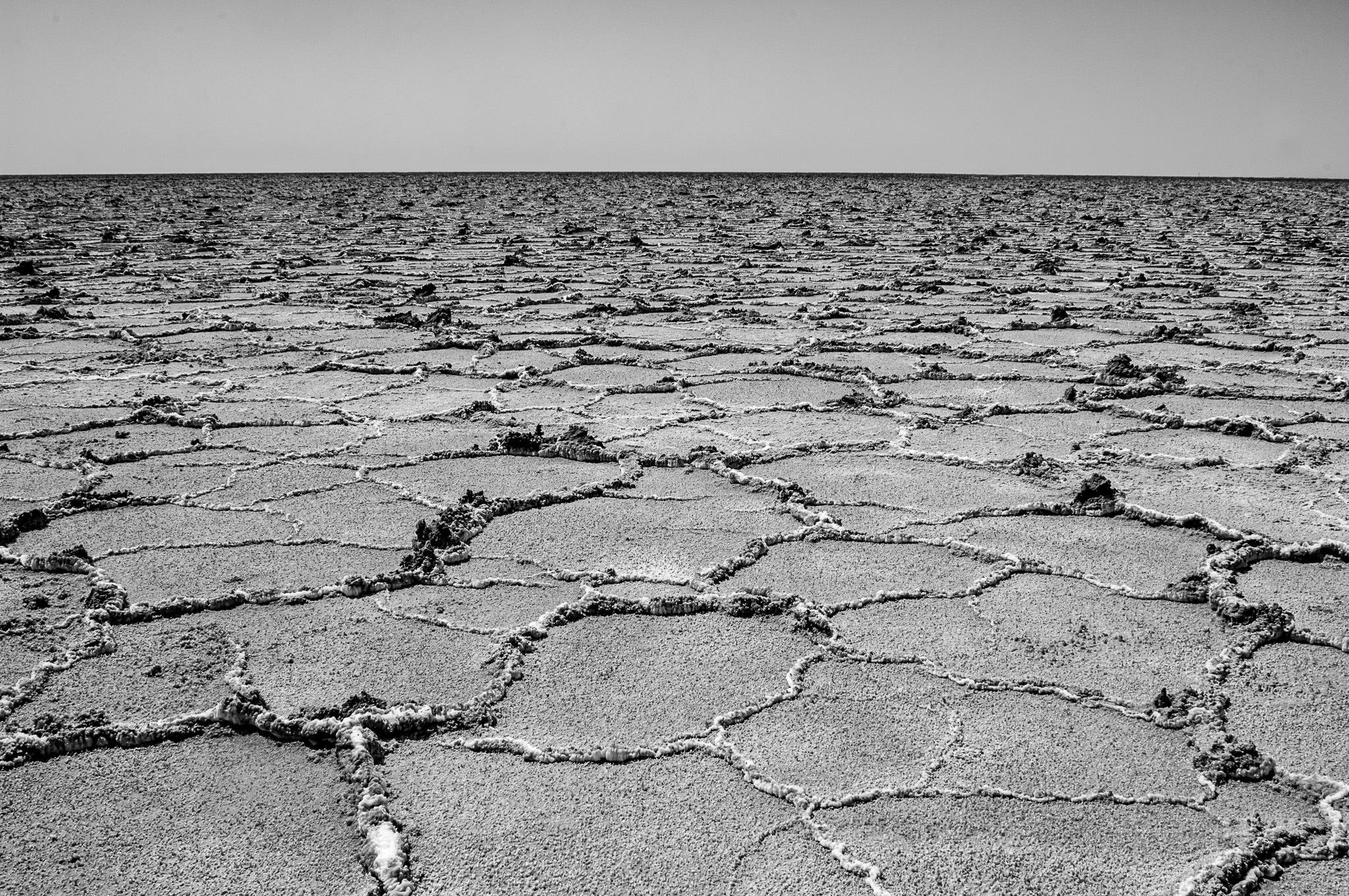 Photo in Black and White #iran #salt lake #desert #nikon #nikkor #mehrdadbathaeephotography #isfahan