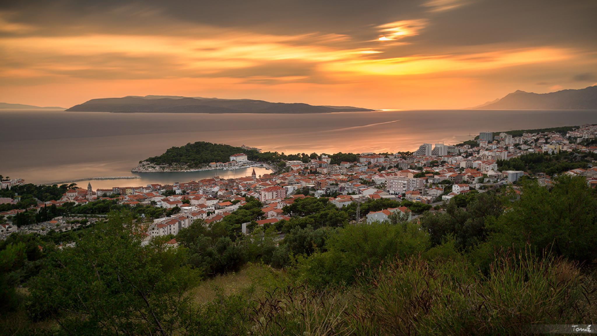 Makarska sunset by Tomaž Klemenšak