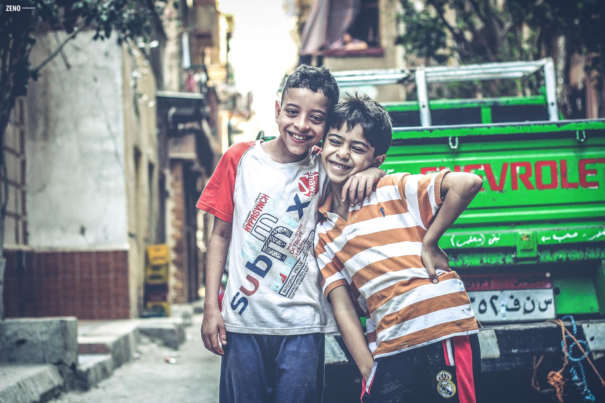Street Smile with best friend by Ahmed Mahrous