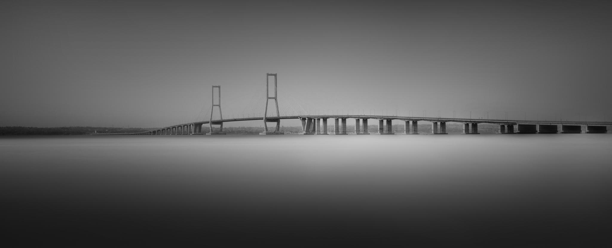 Photo in Black and White #bridge #ocean #black and white
