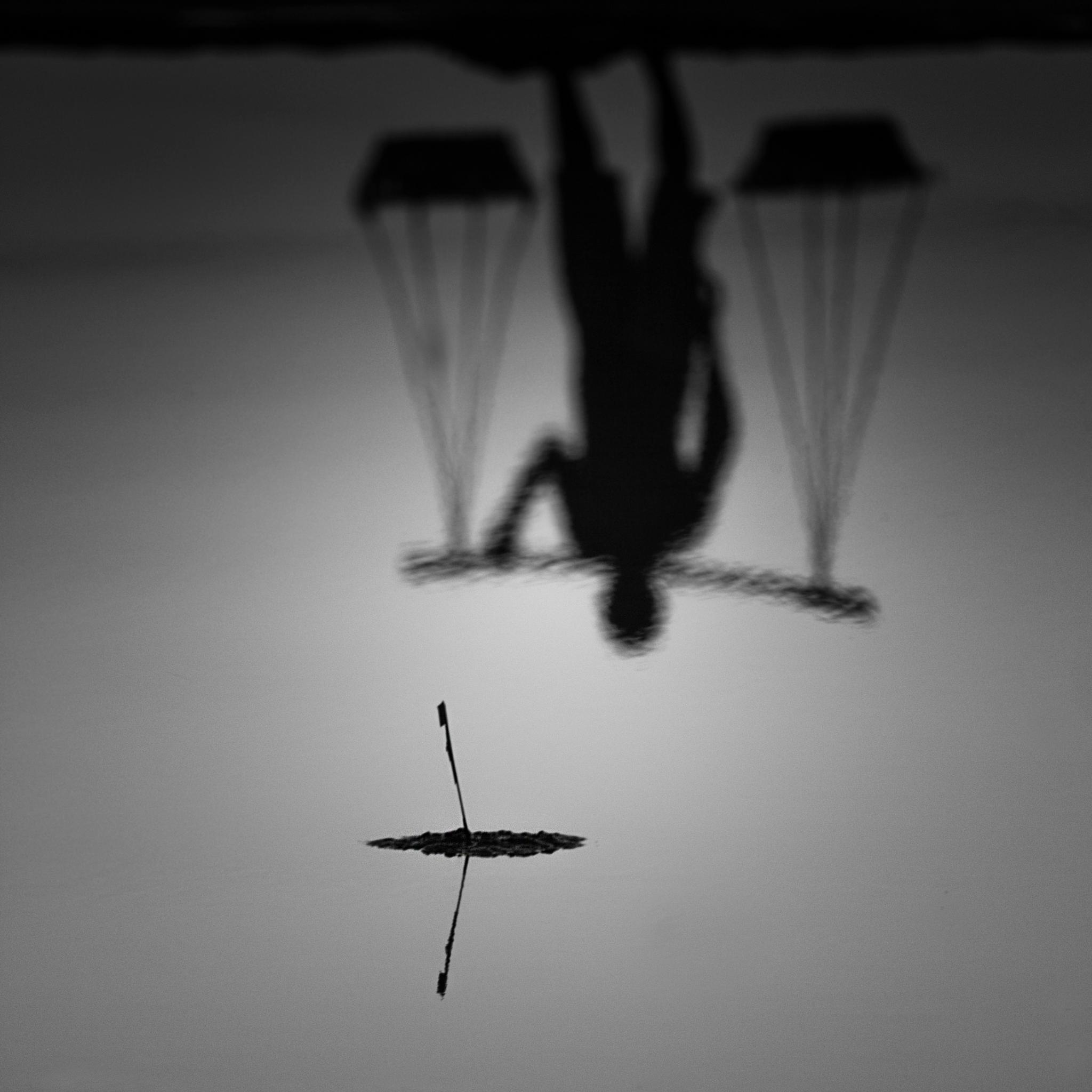 Photo in Black and White #salt #reflection #water #black and white