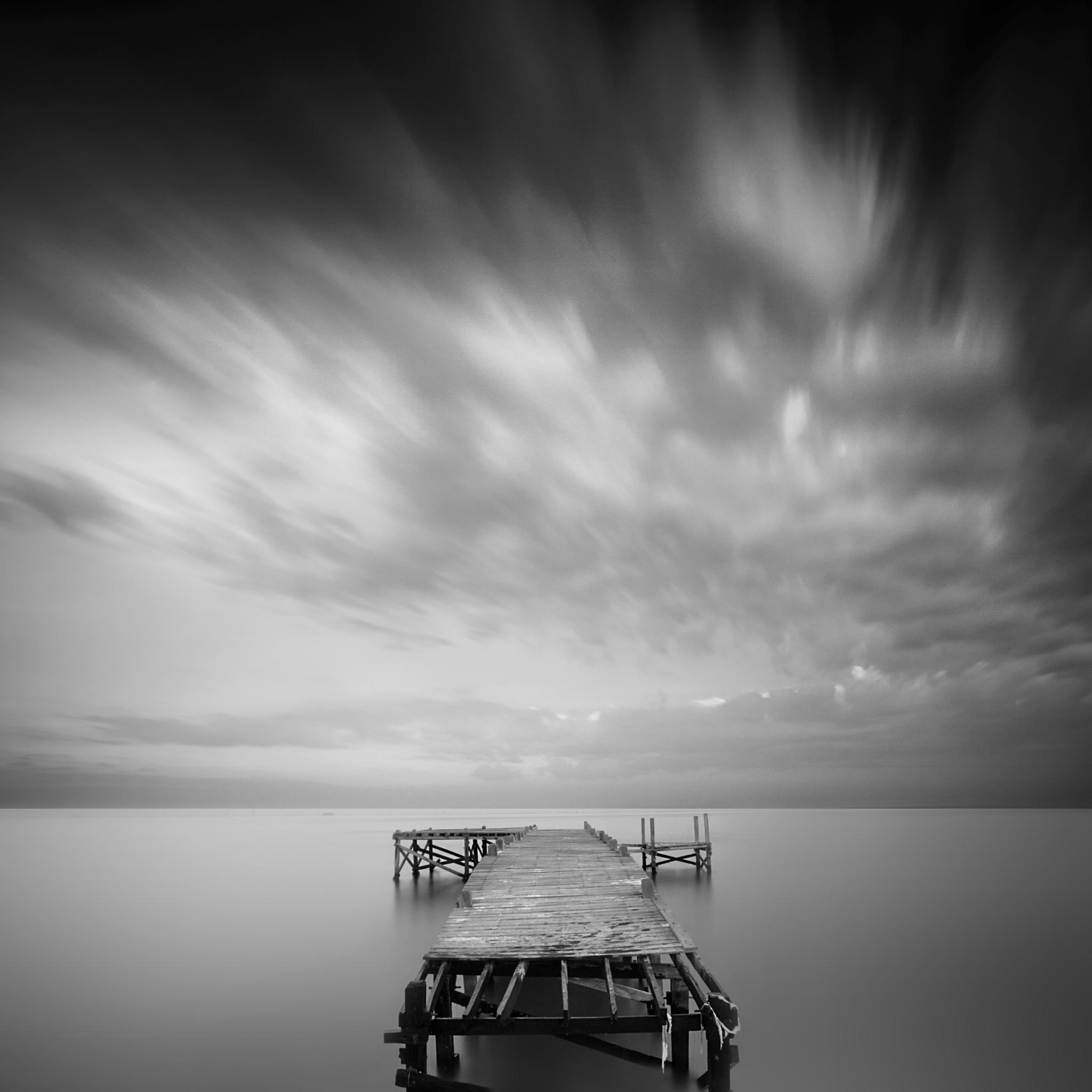 Photo in Black and White #port #black and white #ocean #nature #landscape