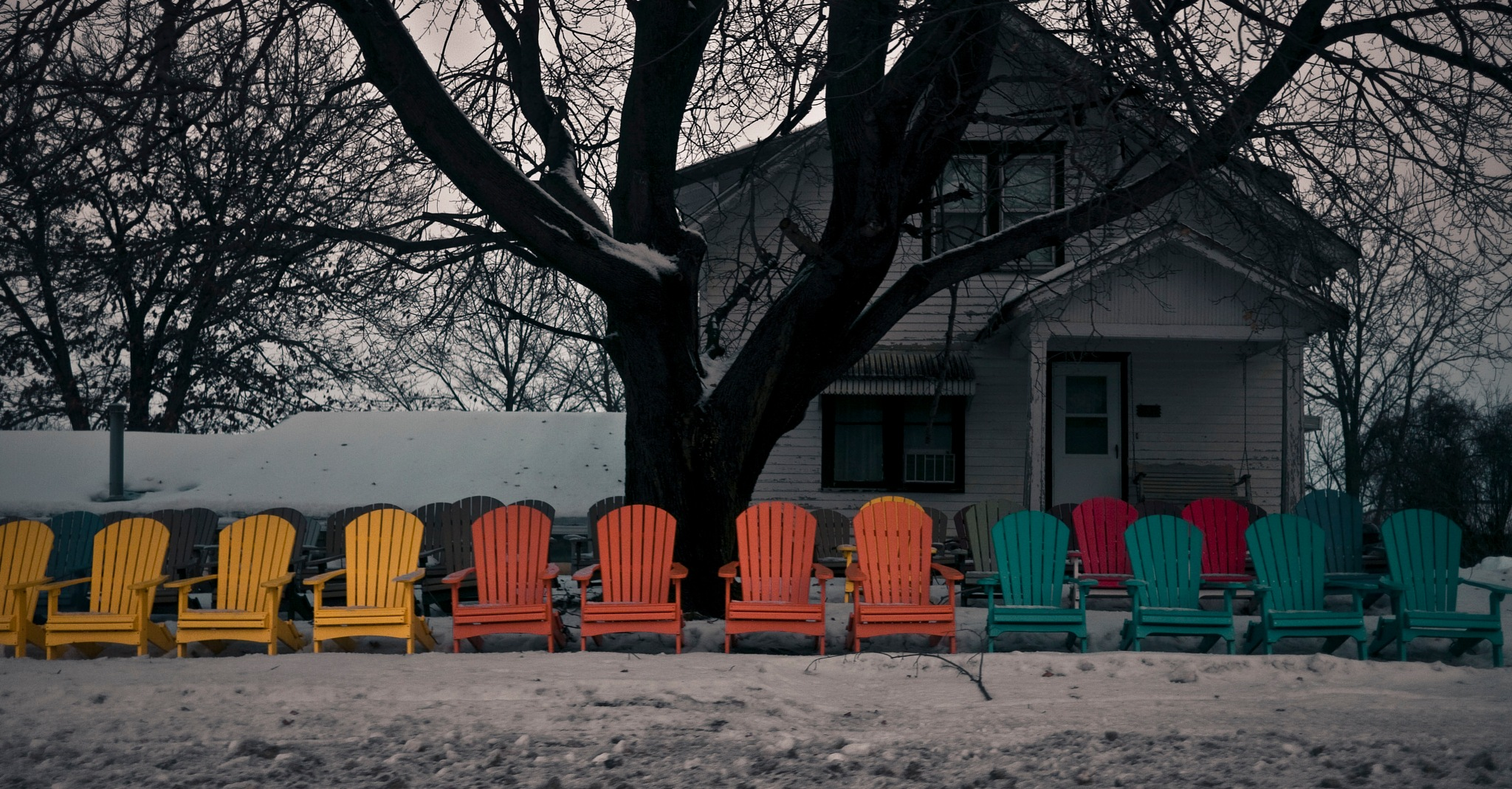 Colored Lawn Chairs - Harmony MN by Robert Henry