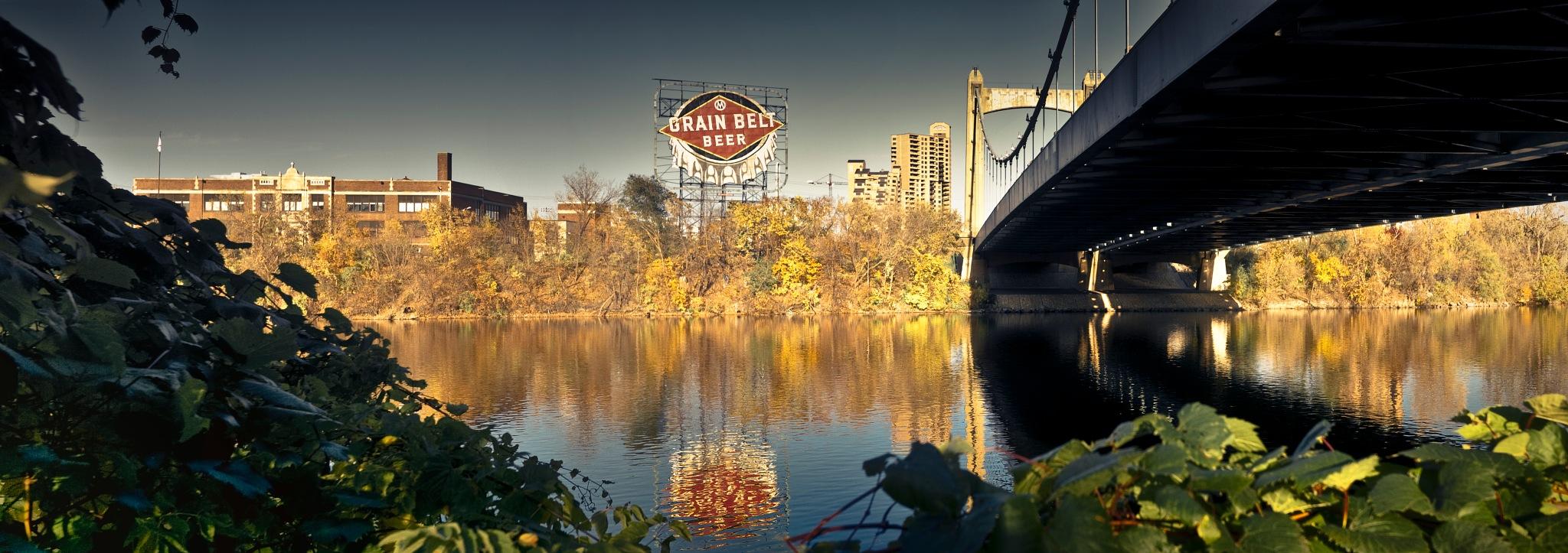 Grain Belt Beer Sign - Hennepin Ave. Bridge by Robert Henry
