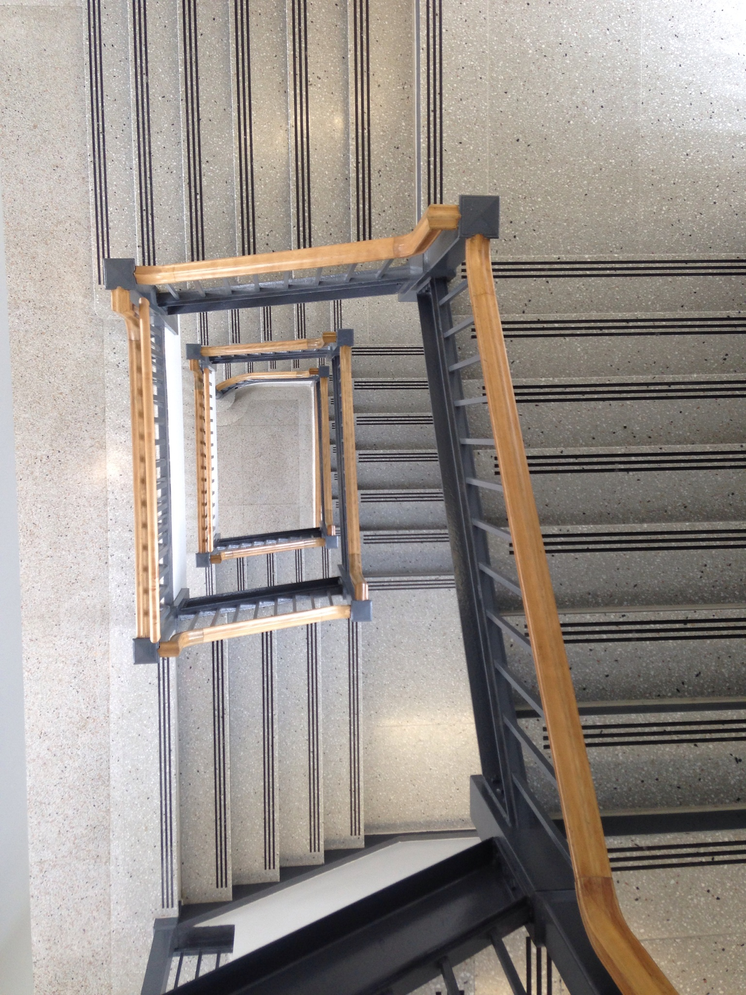 Stairs in Hayes Hall, University at Buffalo [From top to bottom] by Sayem M A Shah