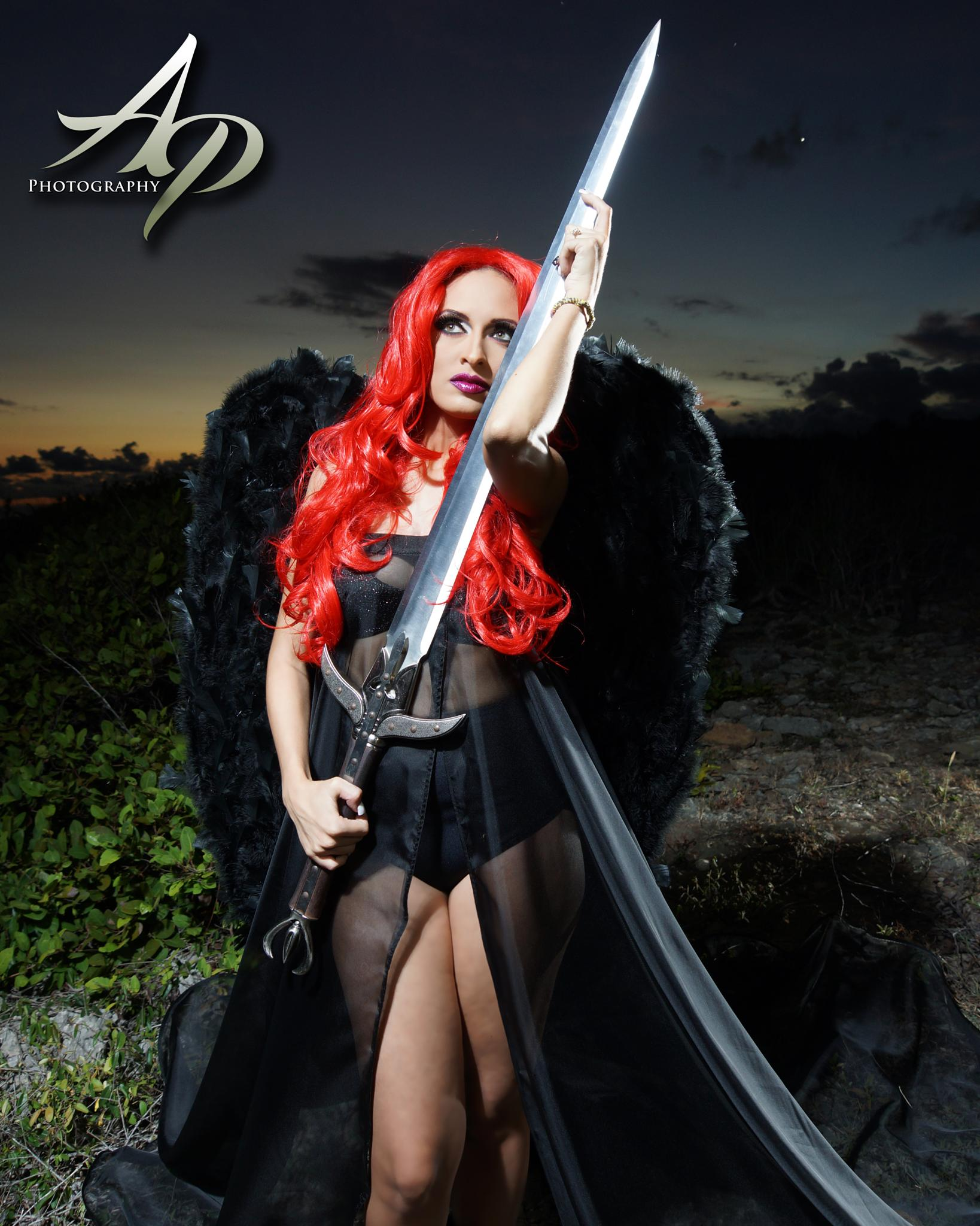 Sexy Black Angel by AP Photography