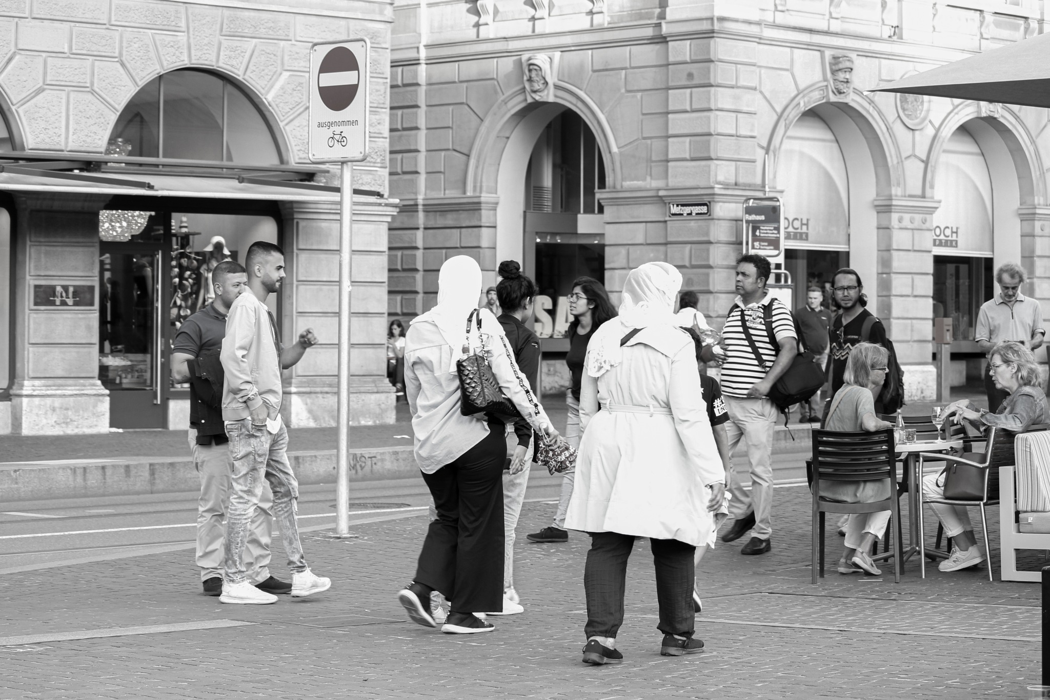 A street Drama in Zurich by Mohammad Ruhul Amin