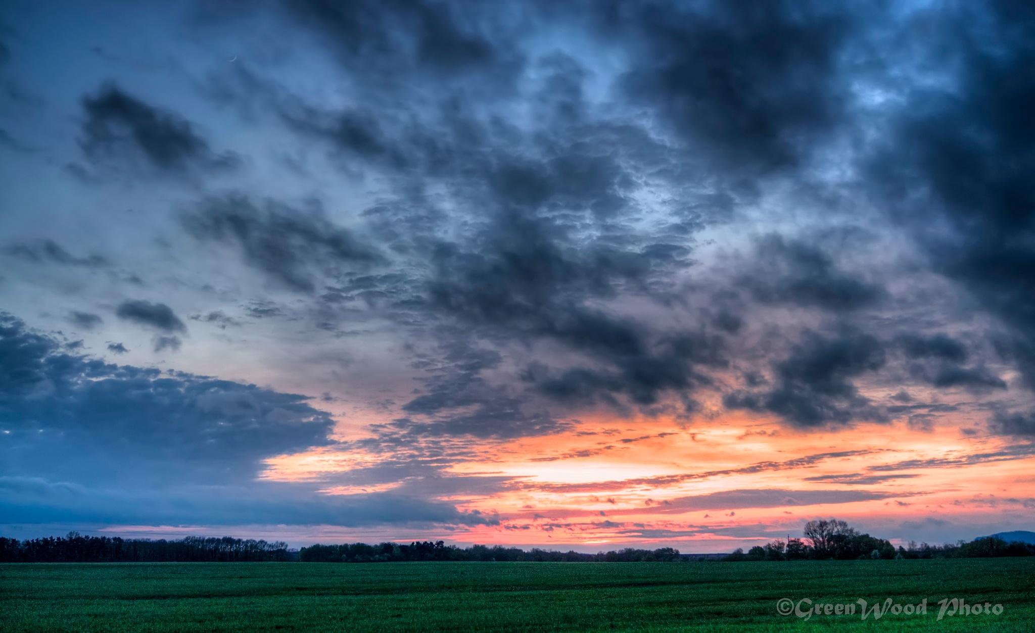 Sunset  by Zoltán Grünvald