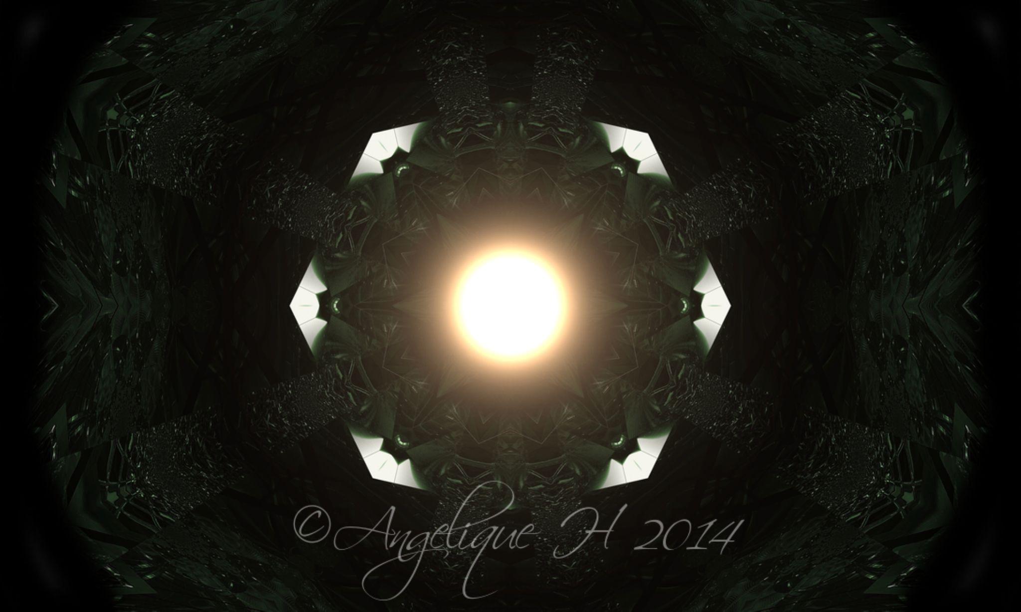 green black,15 layer mandala world, mirror, perscpective,starshine (2),kaleidoscope ,watermarked,wor by AngeliqueH
