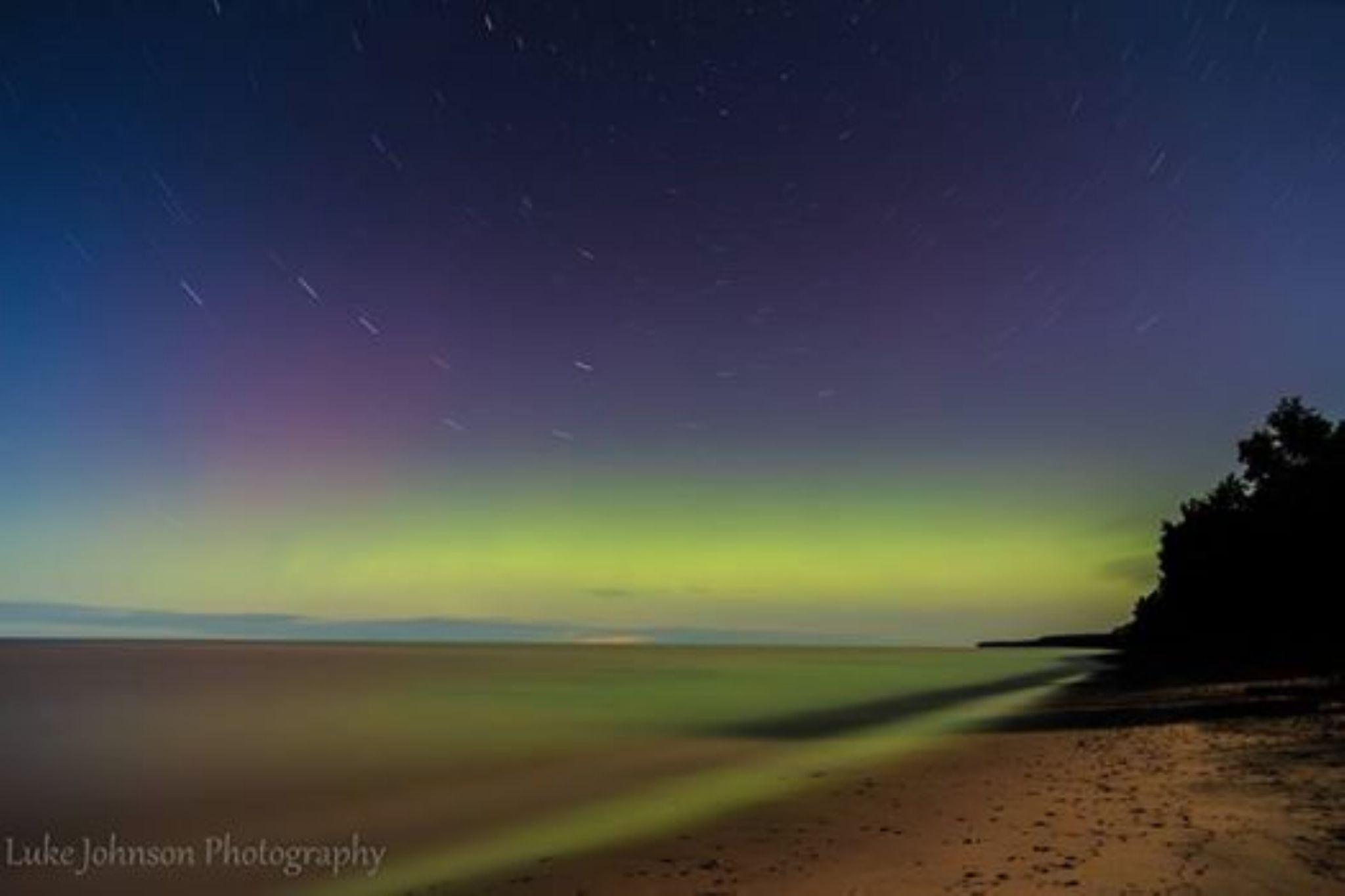 Lake Superior Northern Lights by Luke Johnson