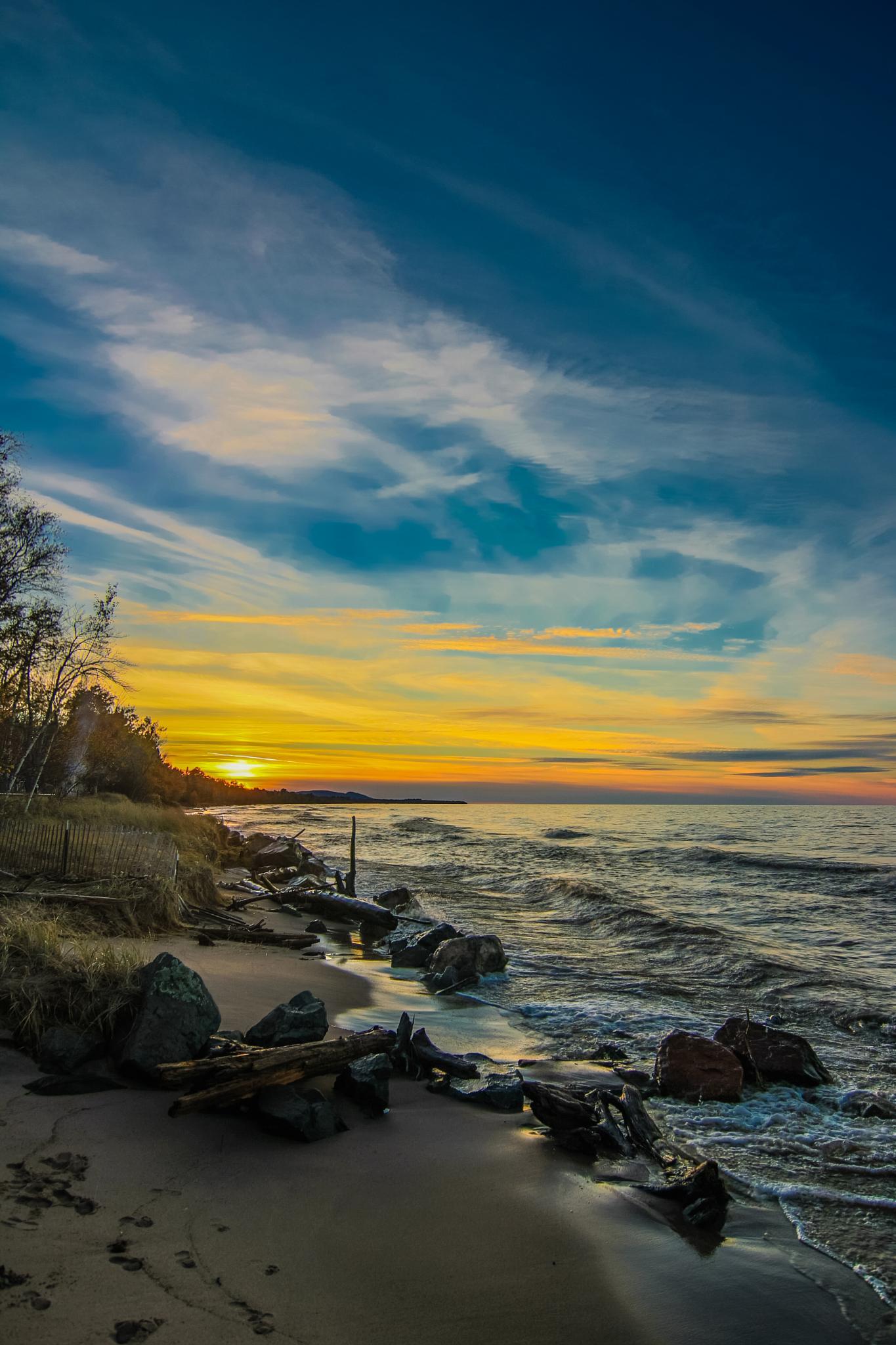 Sunset on Superior by Luke Johnson