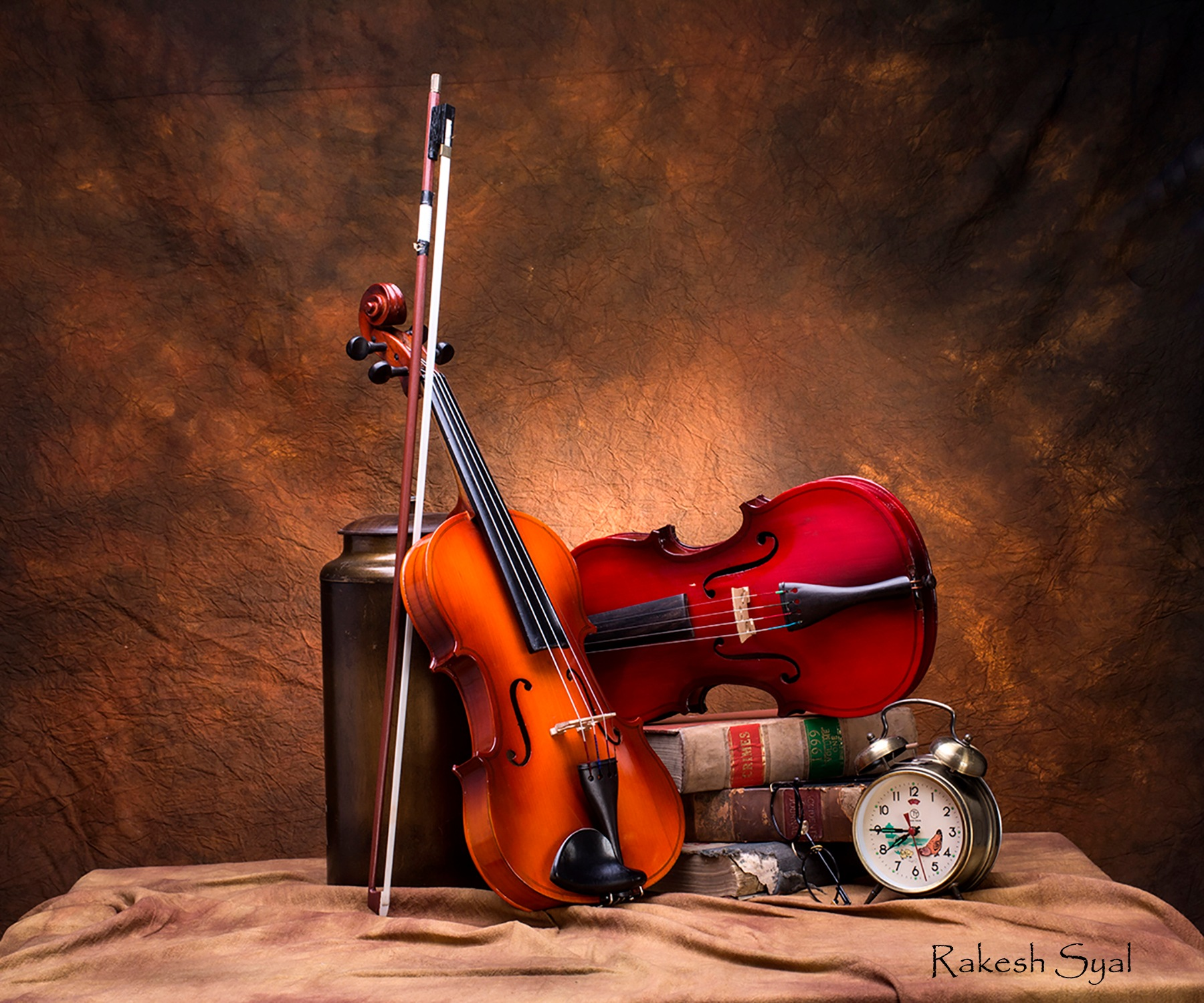 STILL LIFE WITH VIOLINS by Rakesh Syal