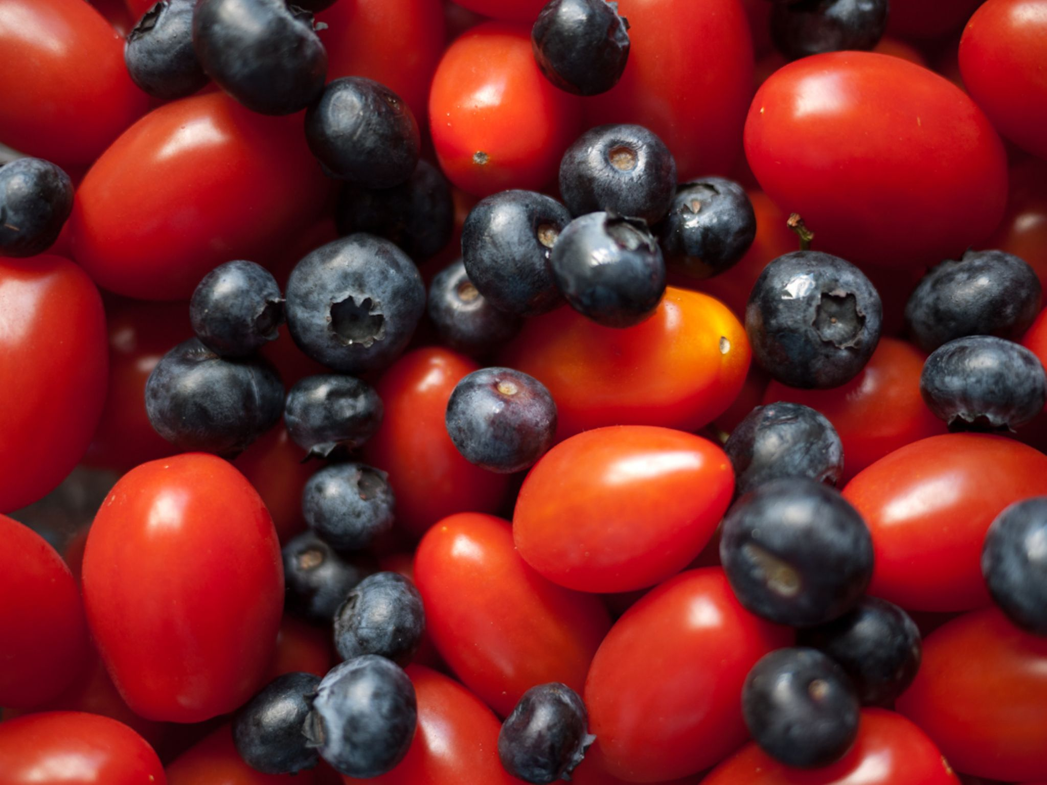tomatoes and blueberries by Leann