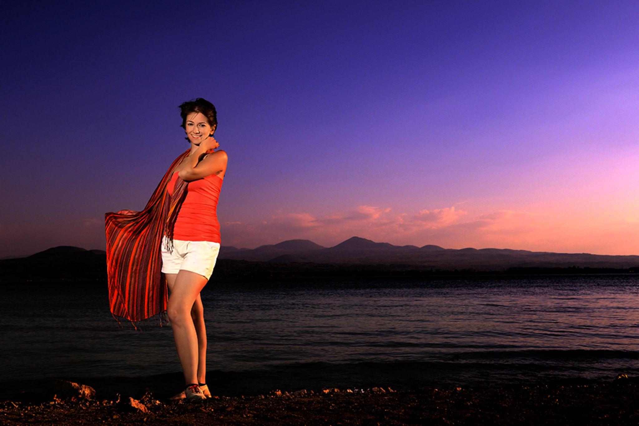 Sunset at Lake by Varand Darian