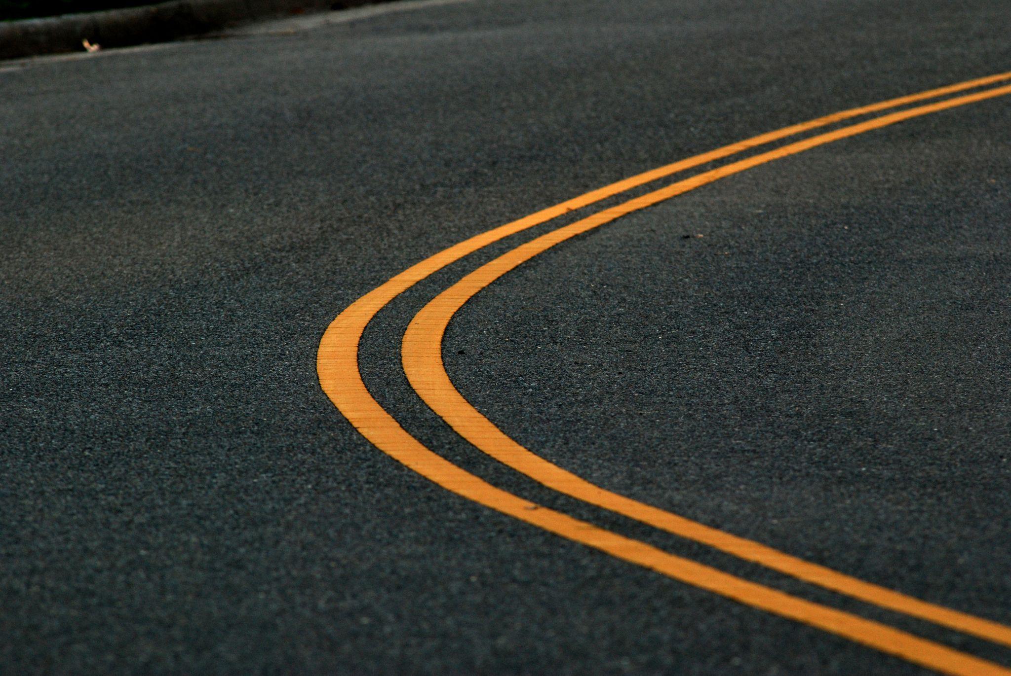 Traffic Lanes at Dusk by David Garcia