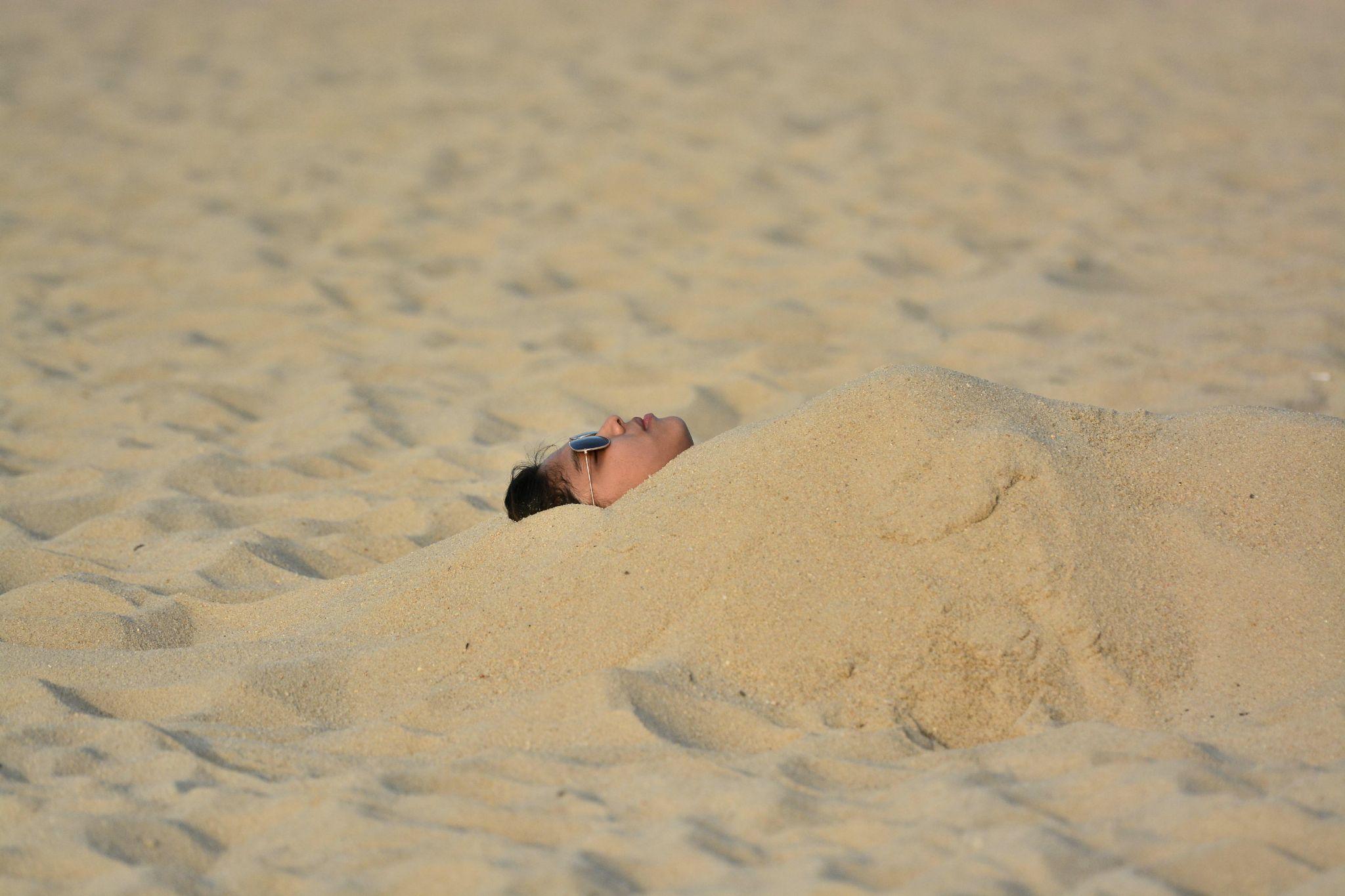 Head found on beach by Raymond Lee