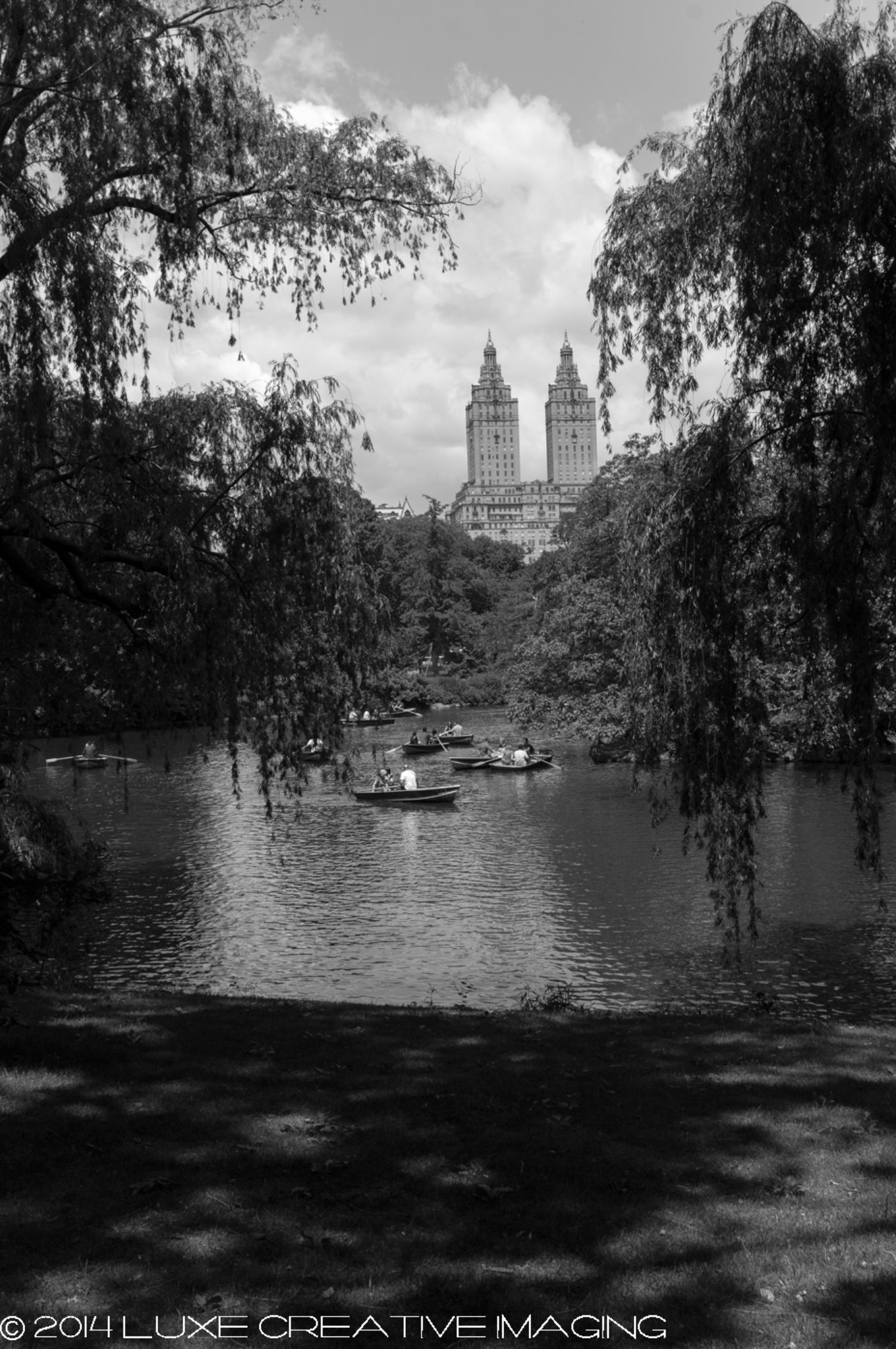 Central Park Boat Pond by George Pruitt