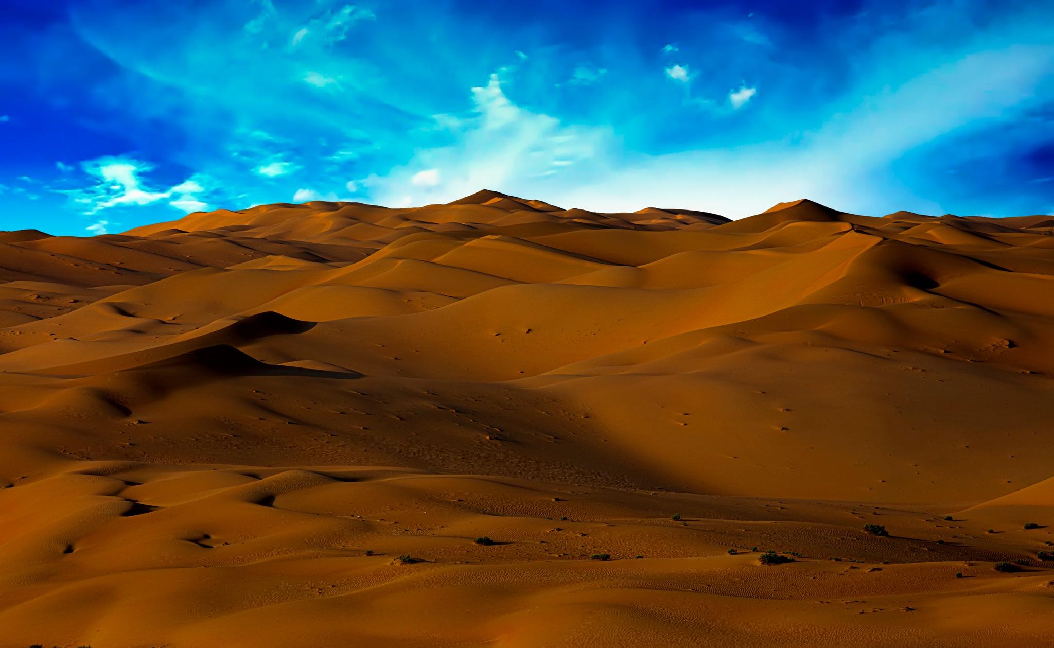 Desert & Sky by TAMER RADWAN
