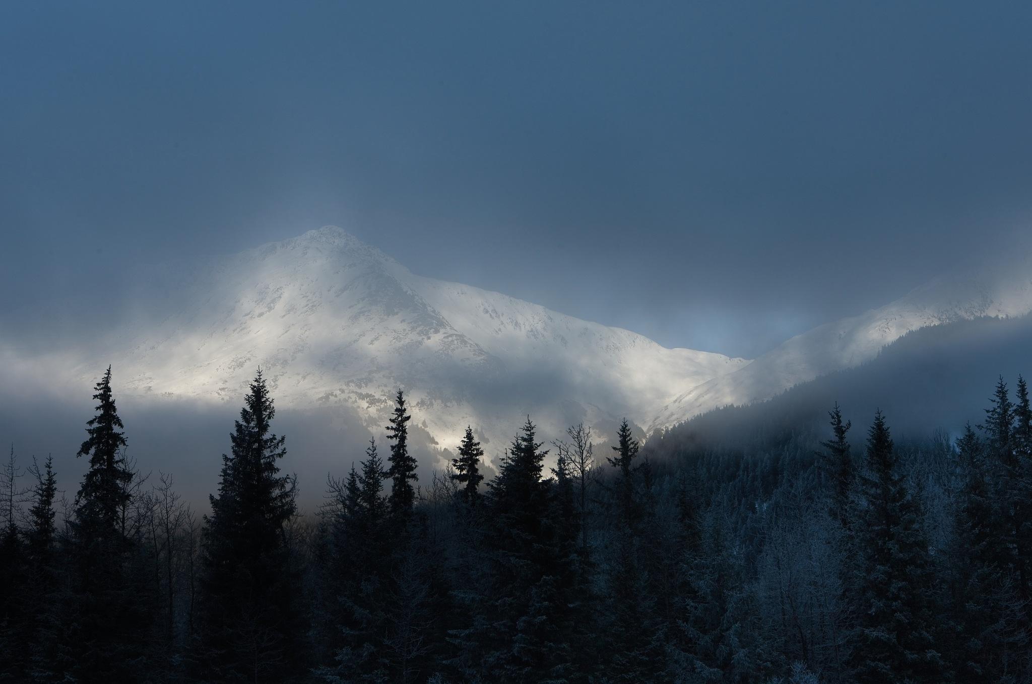 Photo in Landscape #fog #mountain #snow #winter