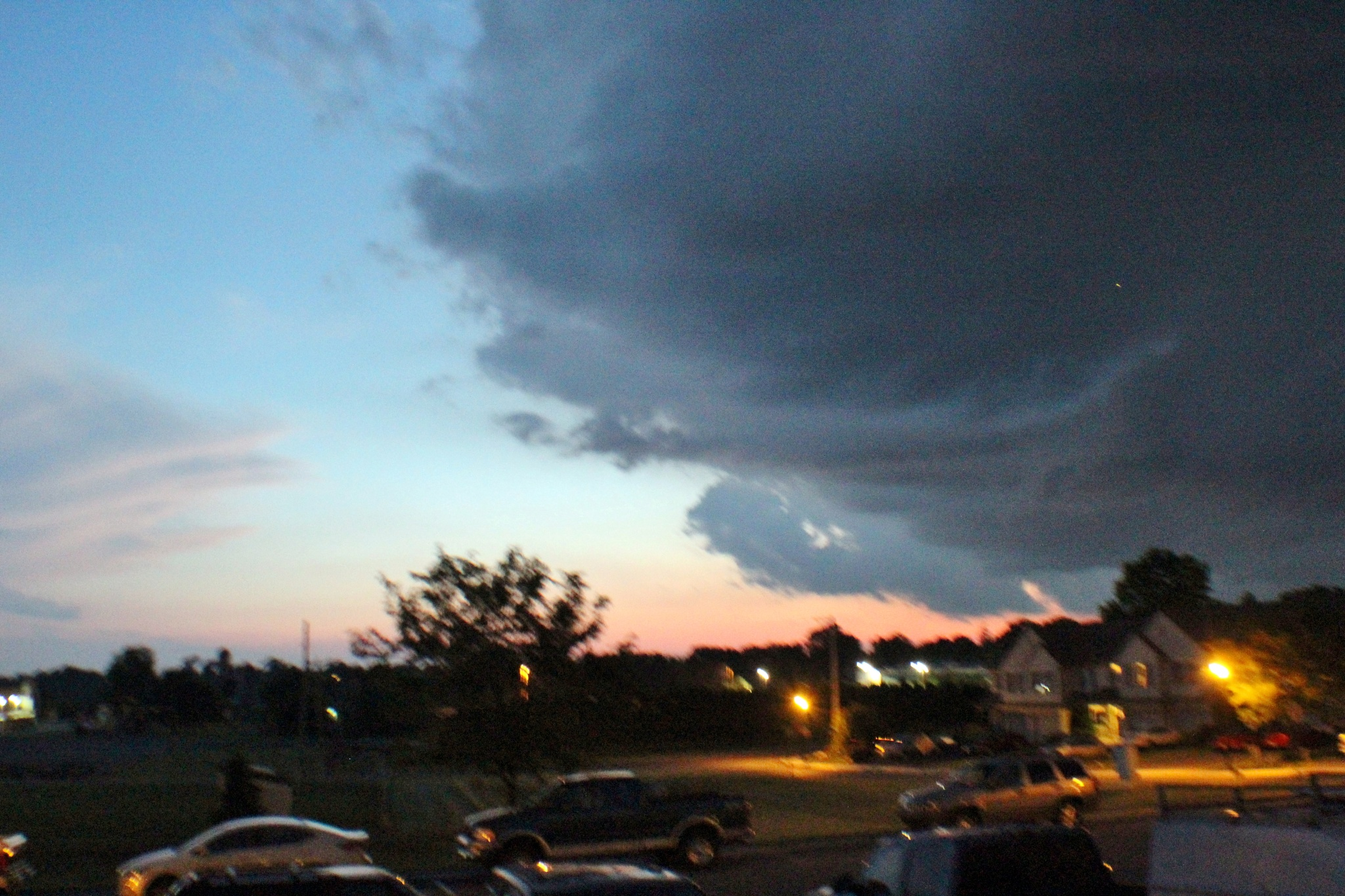 Evening storm coming by Jim