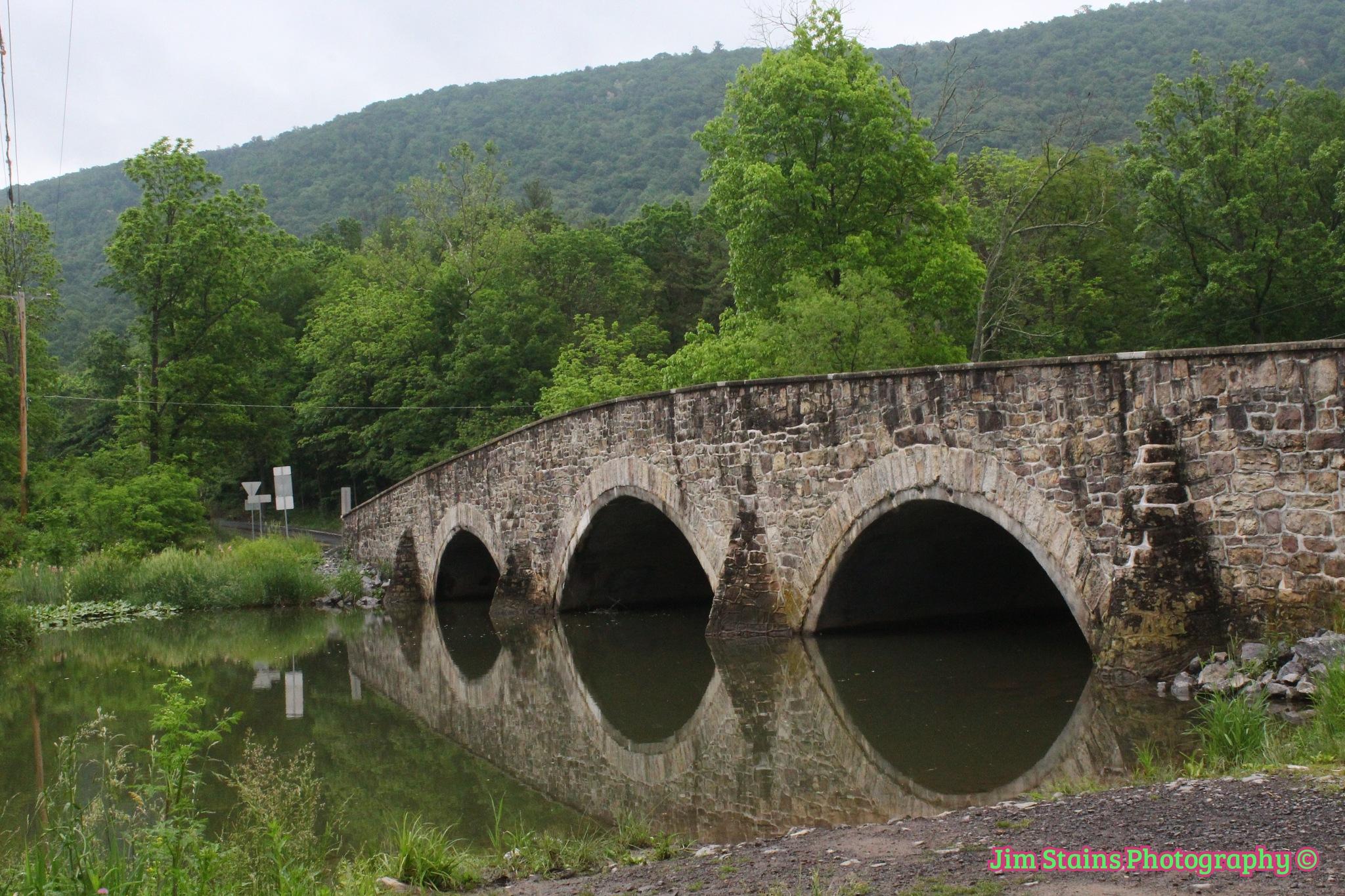 bridge reflection by Jim