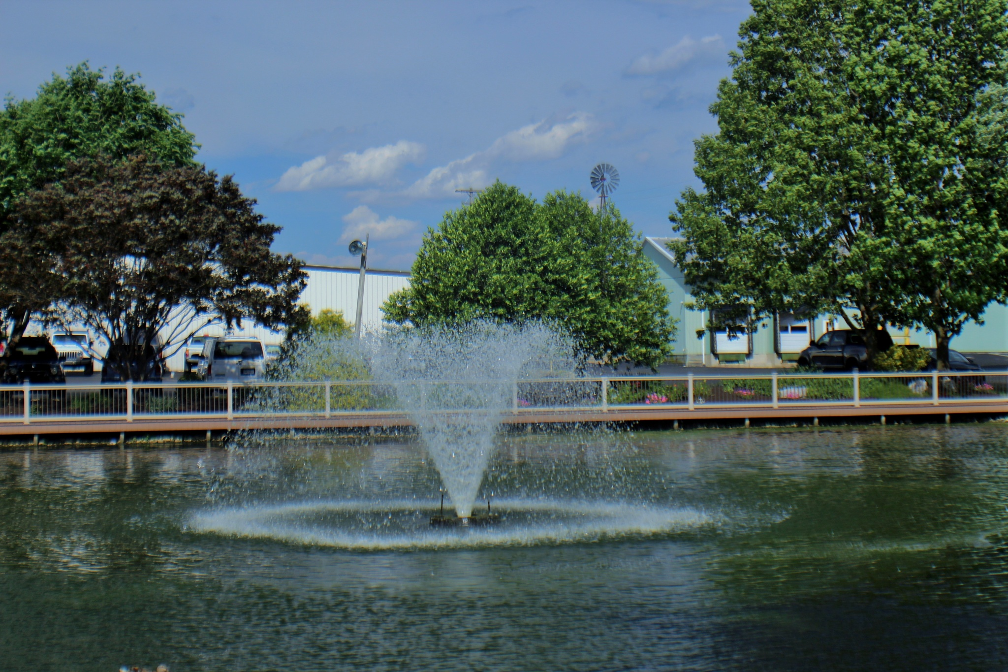fountain at the lake by Jim
