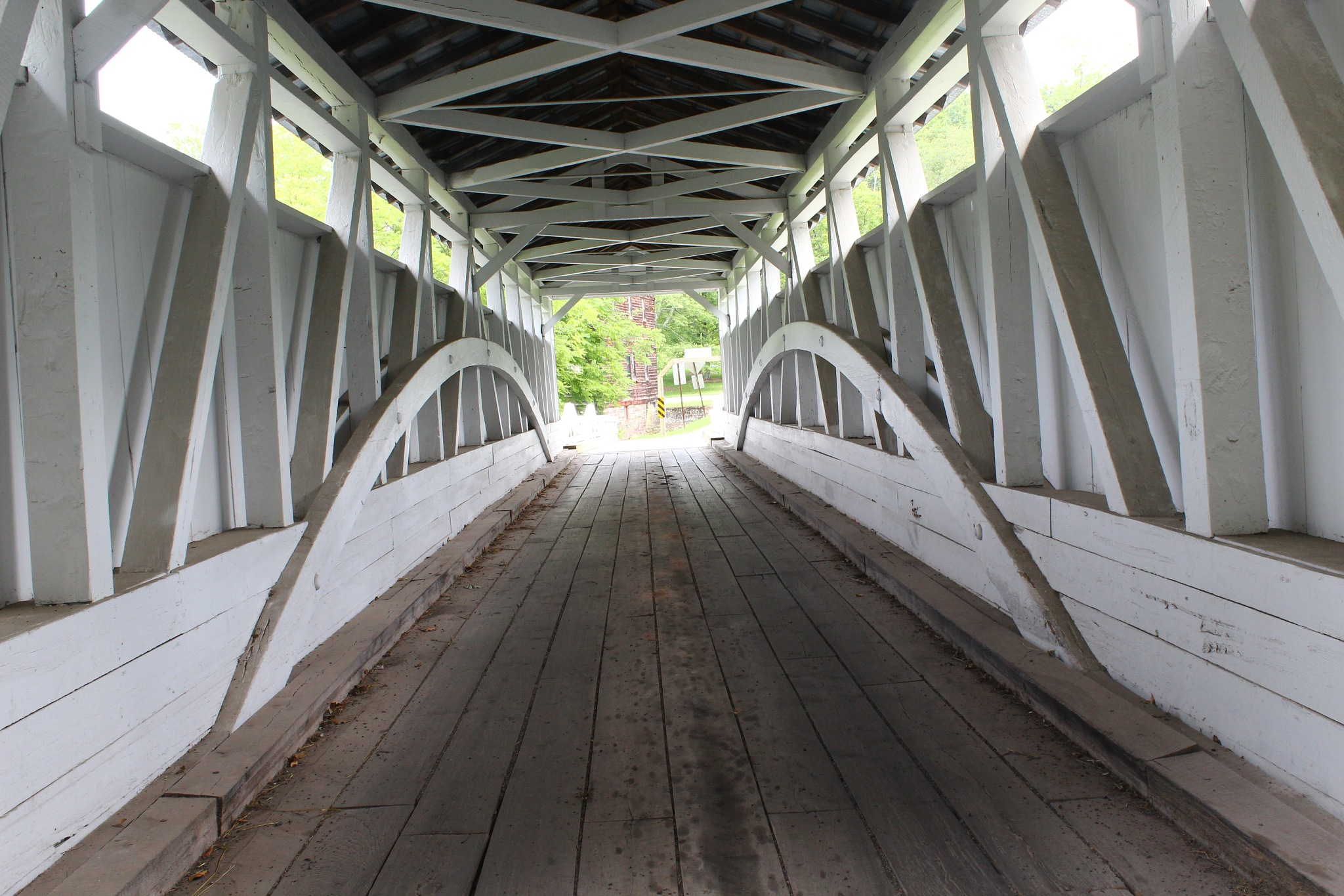inside the covered bridge by Jim