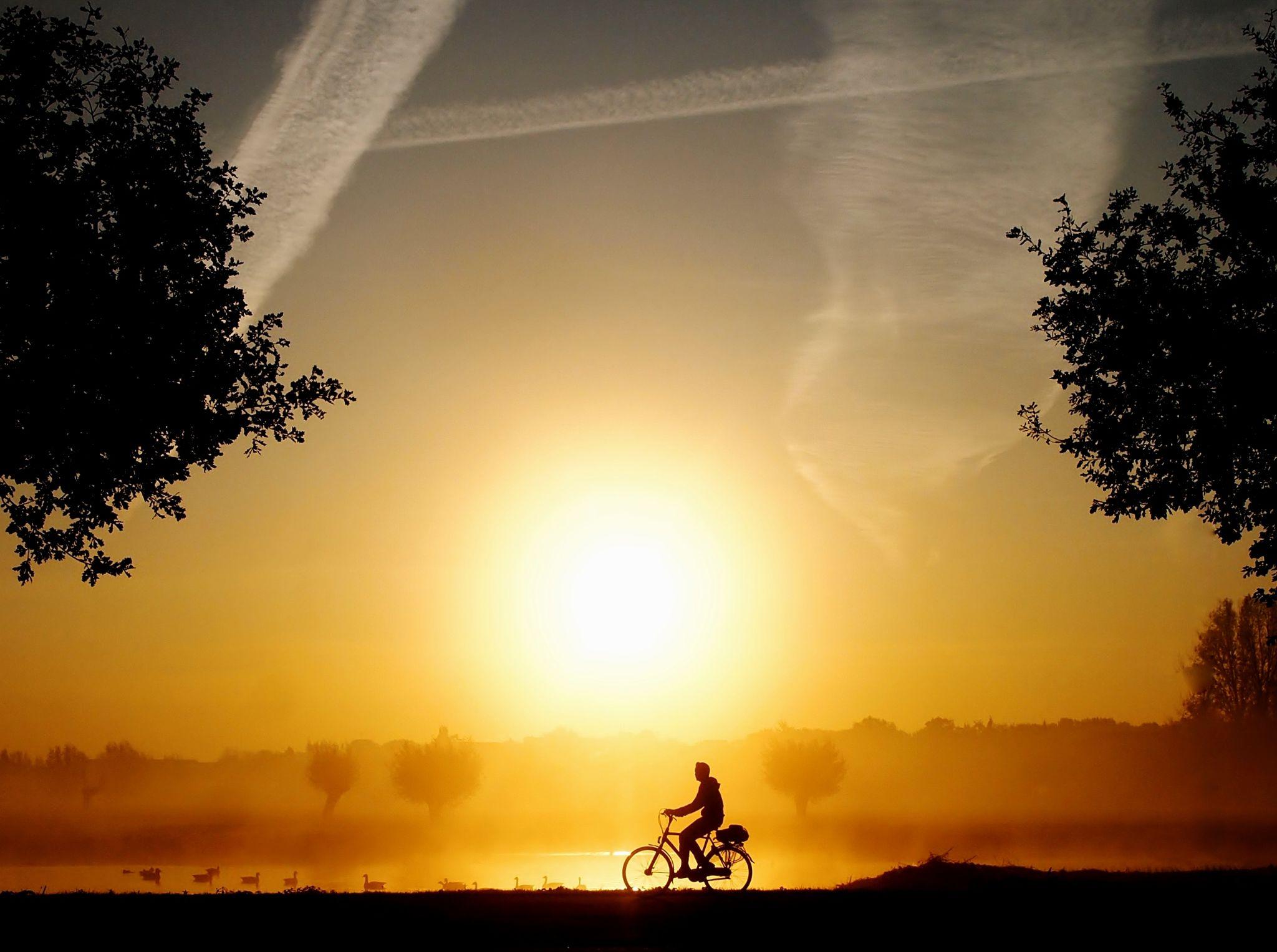 sunrise ride by annemieke