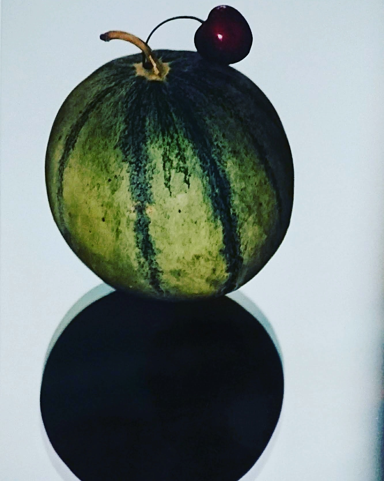 "Stilleben: Melone mit Kirsche / Style Life: Melon with cherry  by ""Rolling Eyes"" A. Gadient"