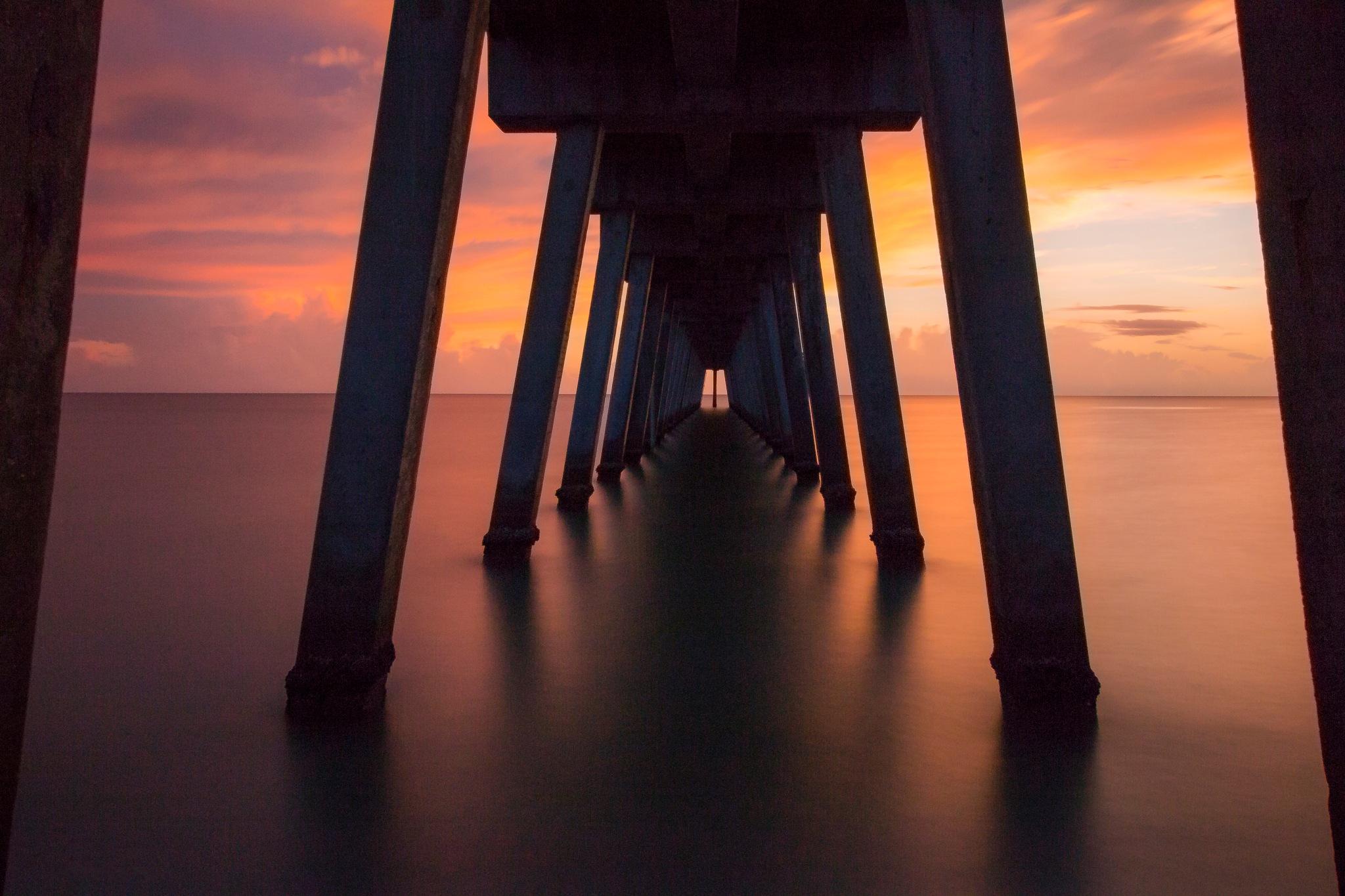 A look under the pier by jose jopiz pineiro