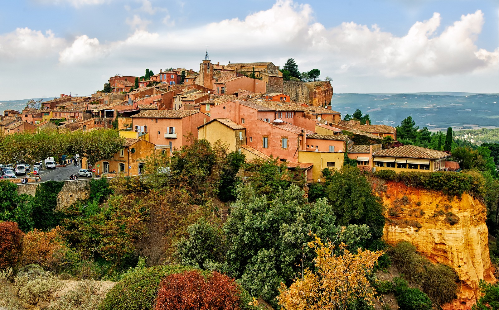 Roussillon in Autumn by Philip Haber