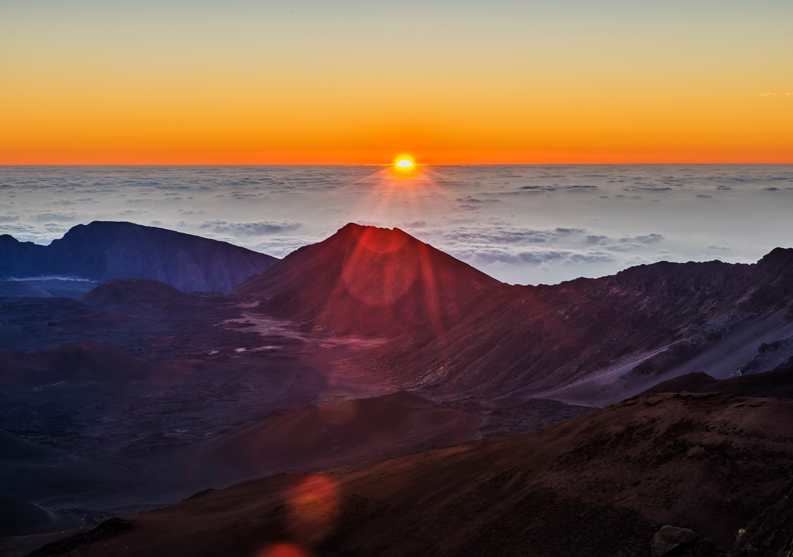Sunrise on Mt. Haleakala by Philip Haber