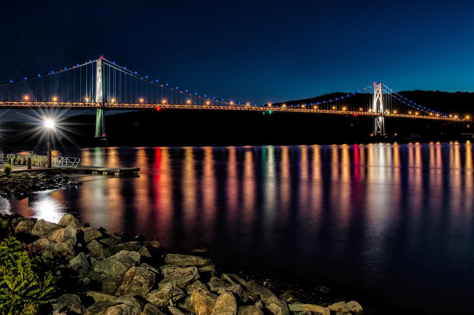 Mid-Hudson Bridge after Sunset by Philip Haber