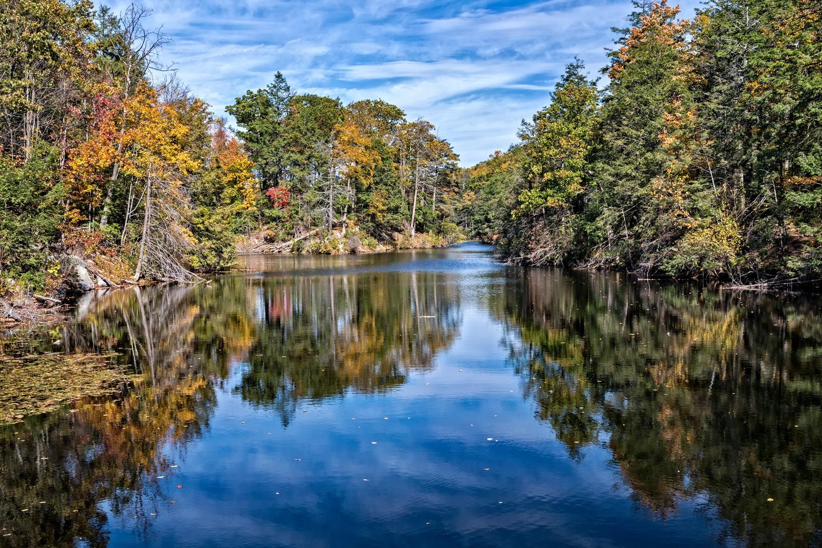 Pelton Pond, Fahnestock State Park, in Autumn by Philip Haber