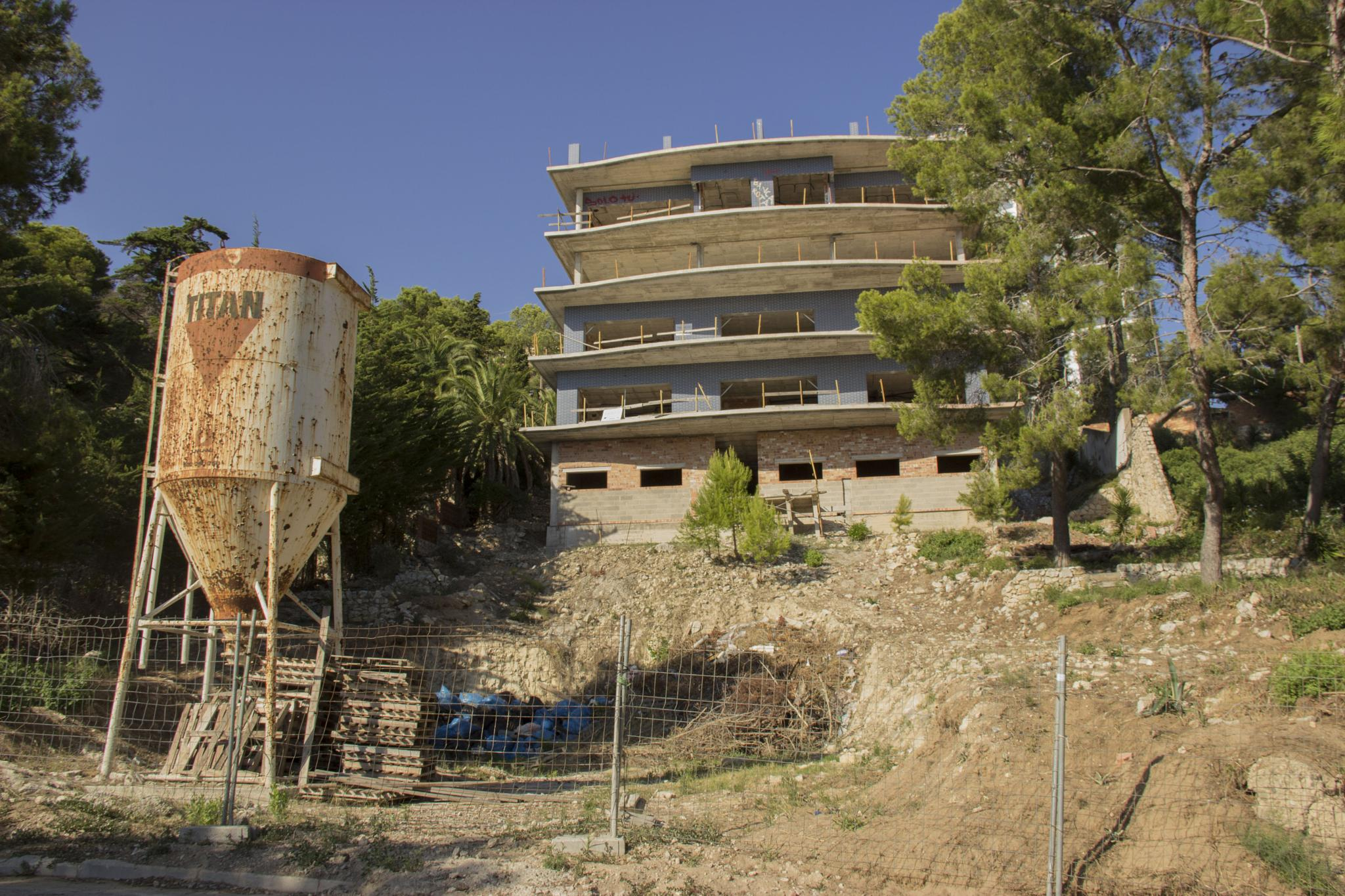 Deserted builiding site, Spain by Nasta