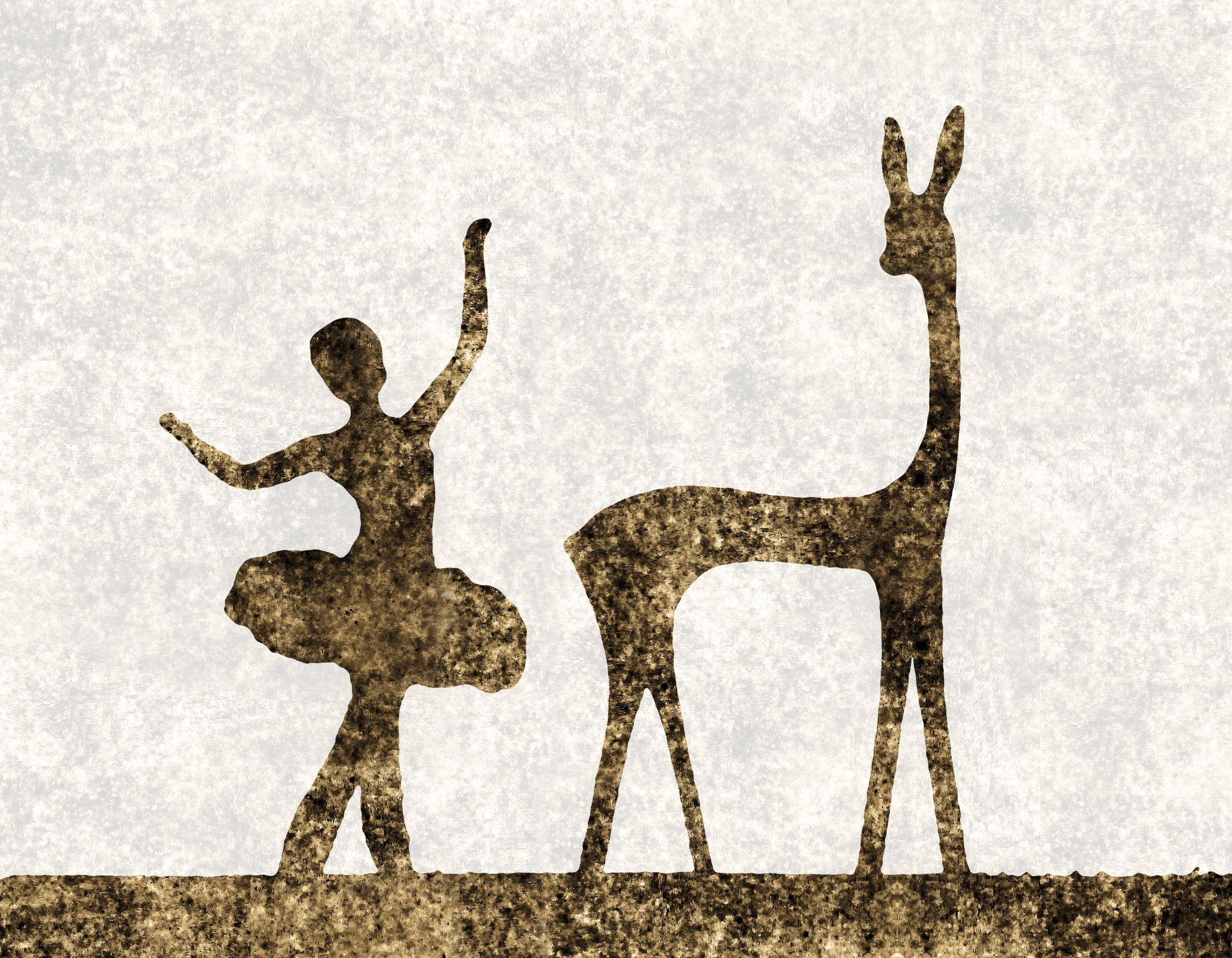 Girl & Deer by Shilov