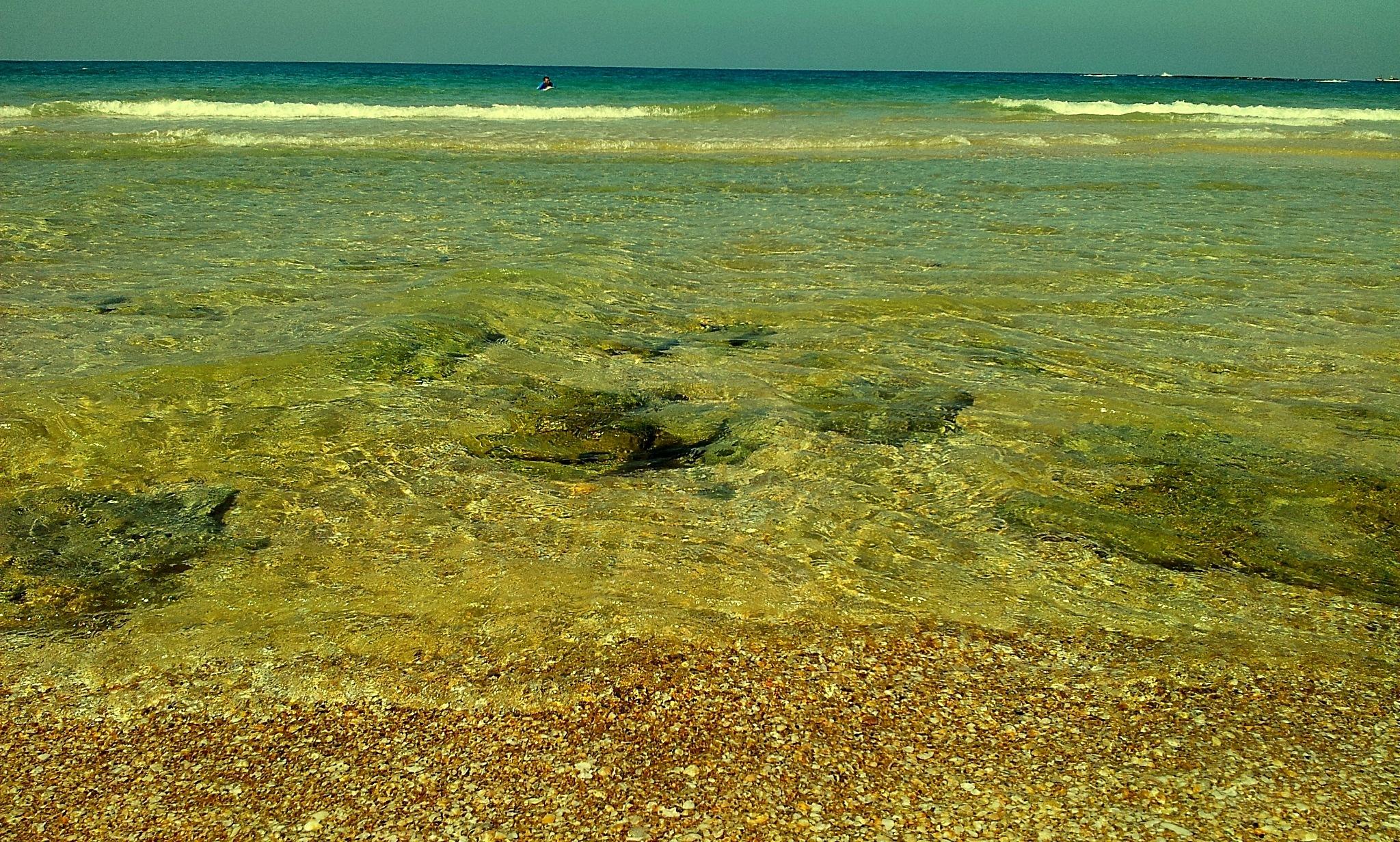 My Hometown Beach .. Palmacim Israel...  by Eliya.M. Moses