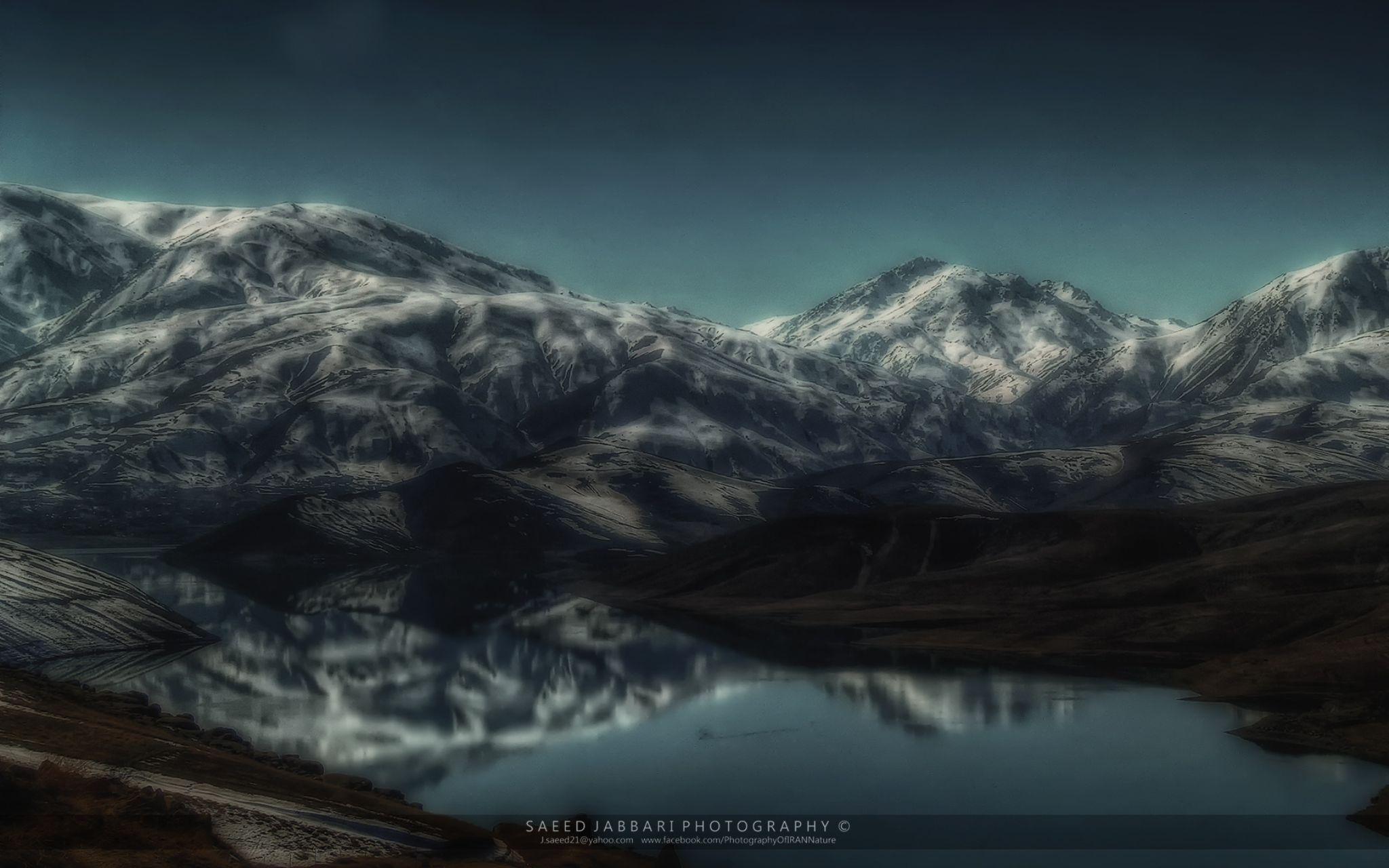 Cold winter at the lake by Saeed Jabbari