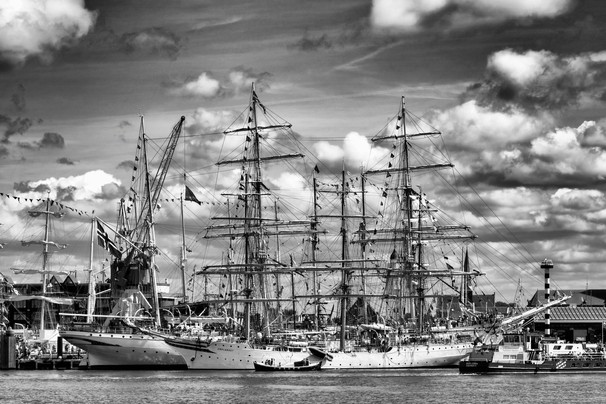 Tallships at Harlingen by Rob van der Griend