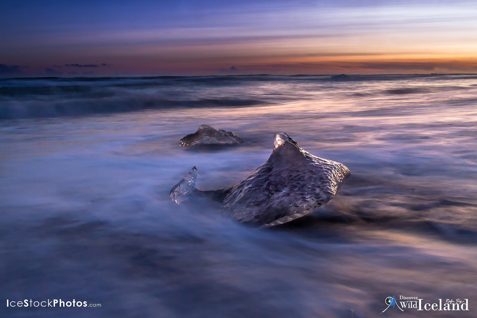 Diamond Black Beach - Jökulsárlón - #Iceland by Rafn Sig,-  @ Discover Wild Iceland.com