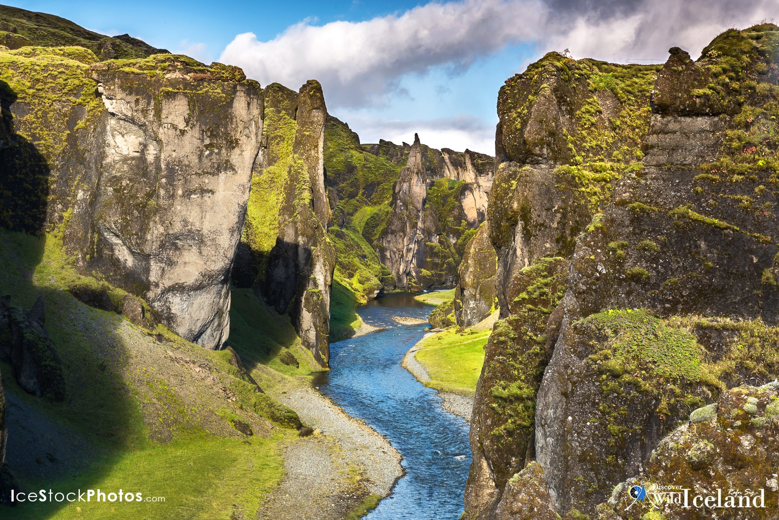One from the Icelandic Stock Photo web: - Fjaðrárgljúfur Canyon by Rafn Sig,-  @ Discover Wild Iceland.com