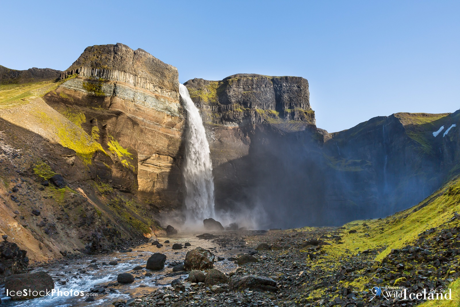 One from the Icelandic Stock Photo web: - Different angel of Háifoss Waterfall by Rafn Sig,-  @ Discover Wild Iceland.com
