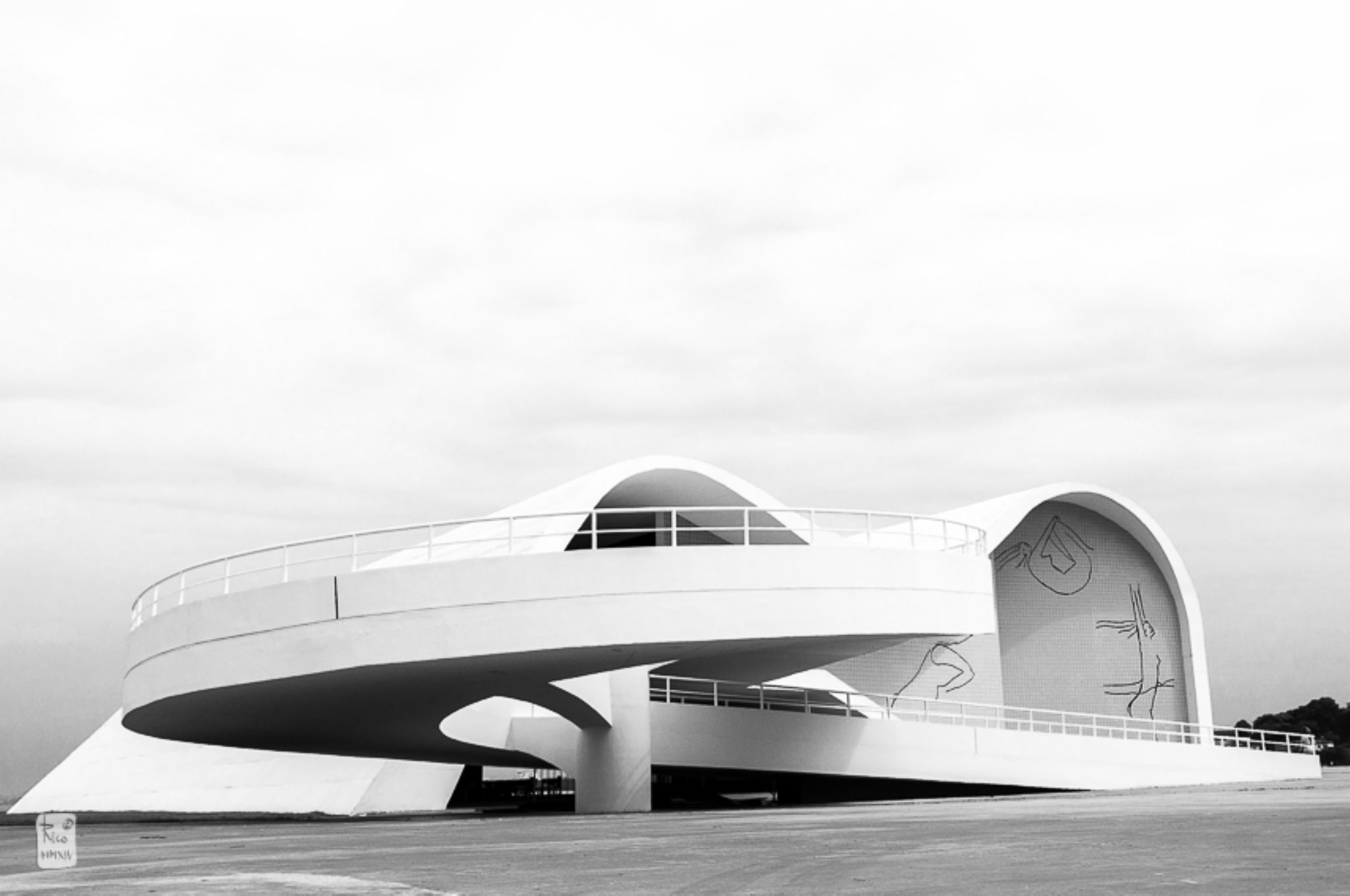 Oscar Niemeyer by Rico