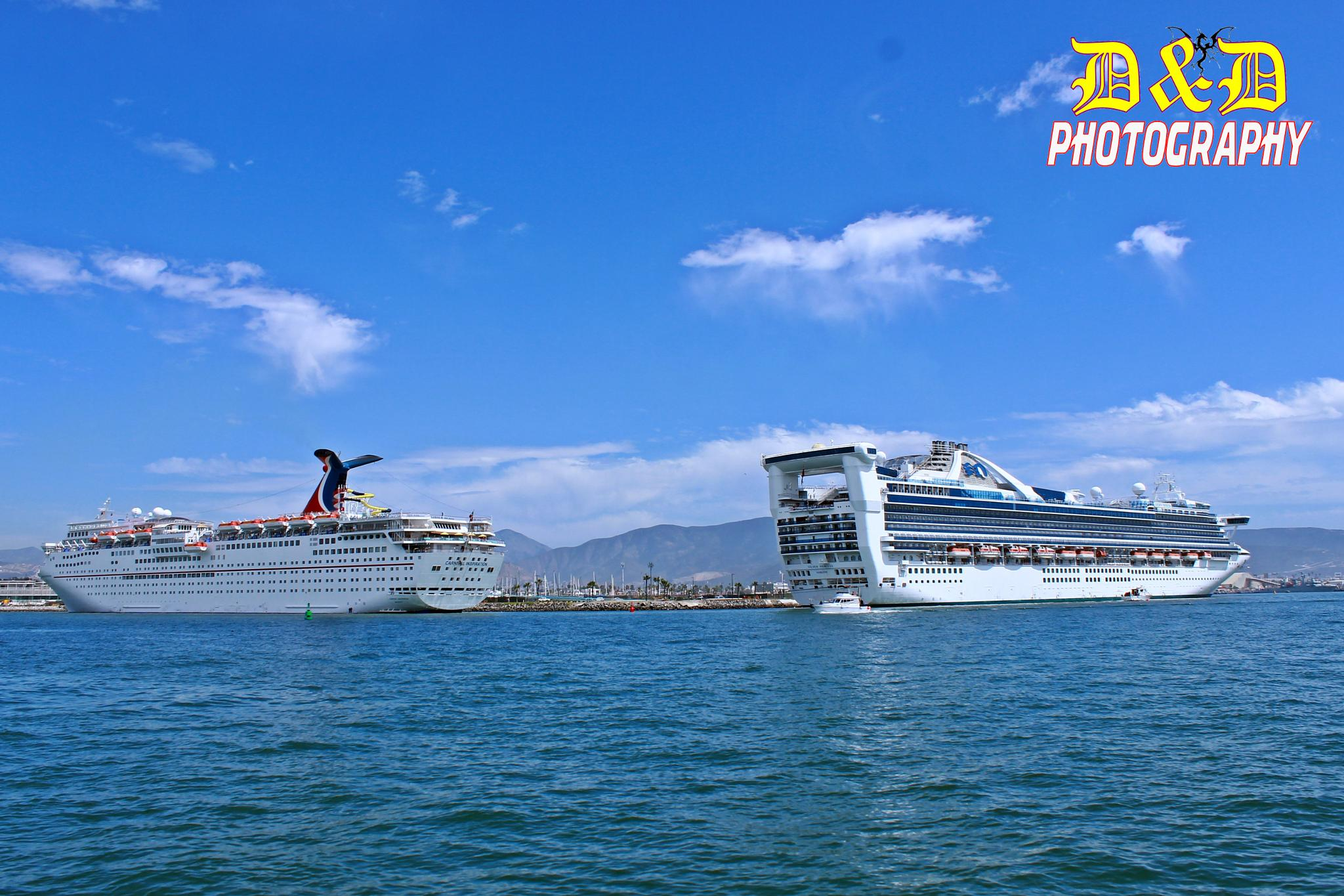 The cruise ships in Ensenada by Dyd_Photo